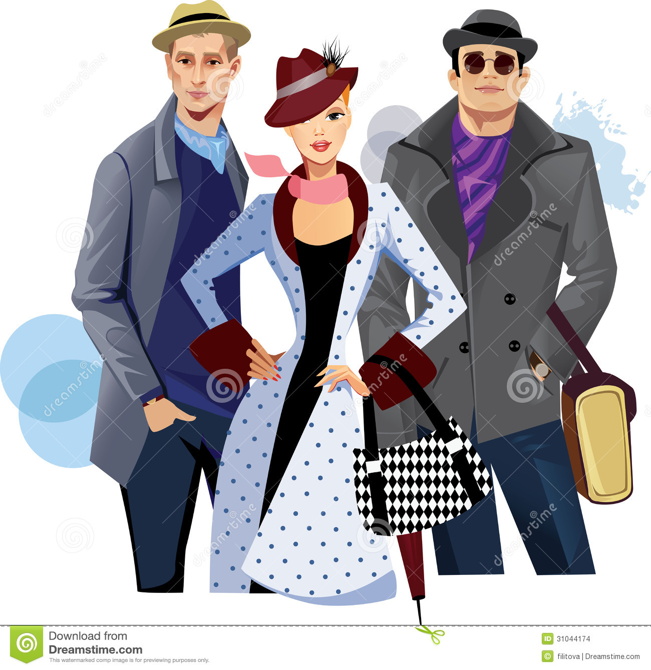 Fashionable Men And Woman In Coat Stock Images - Image: 31044174