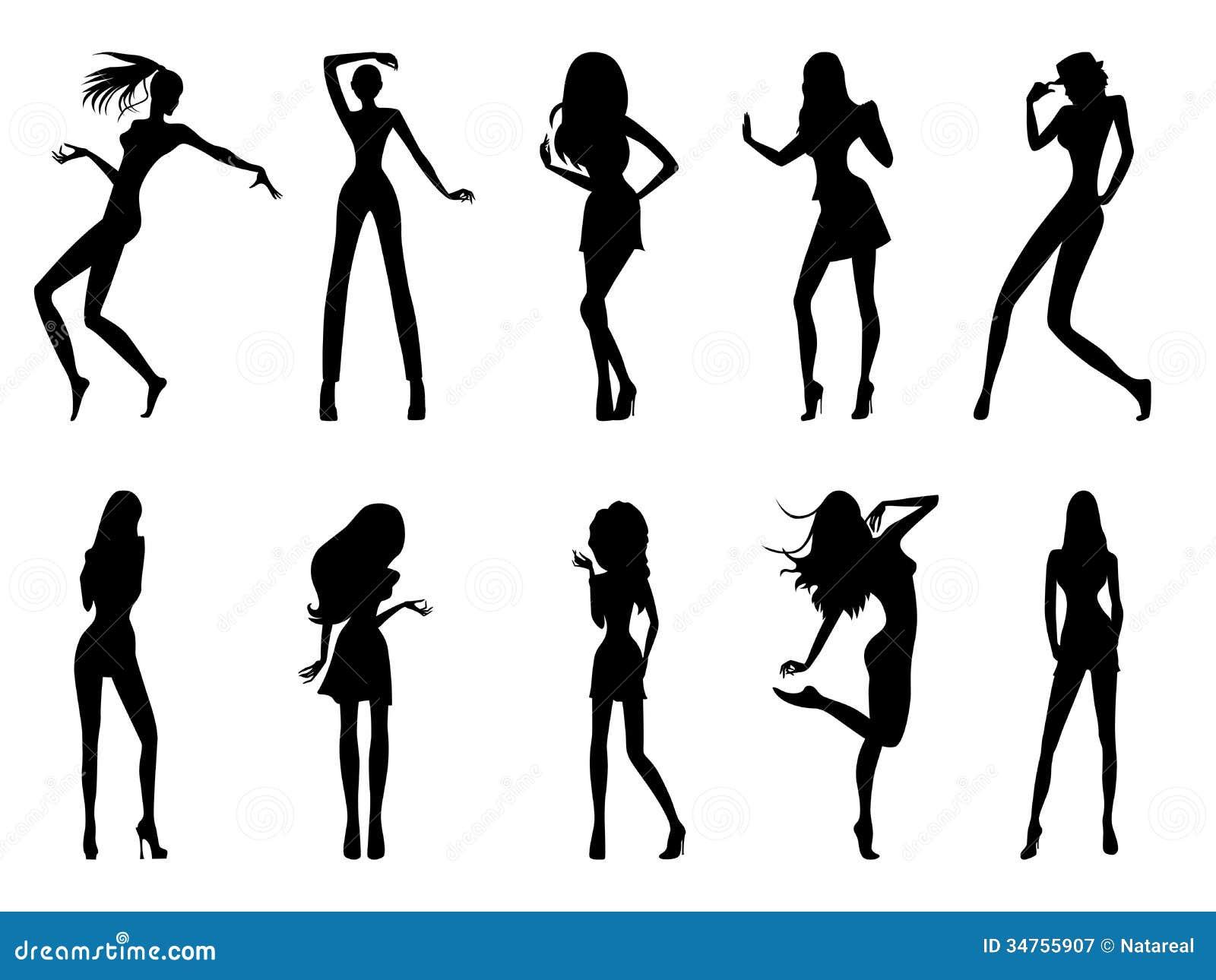 Fashion Body Illustrations Black And White Men