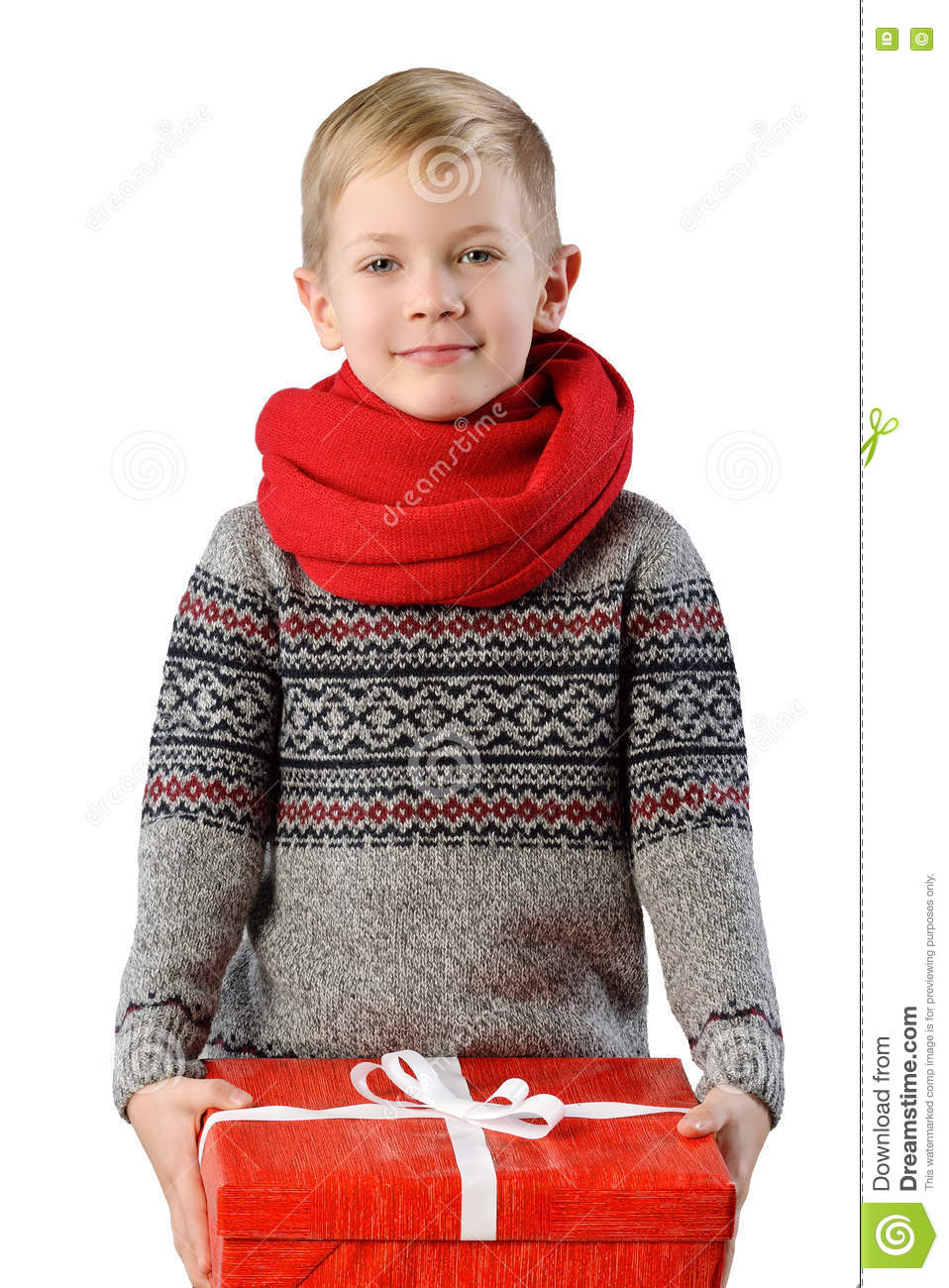 Fashionable Portrait Of A Adorable Toddler Boy In Warm Winter