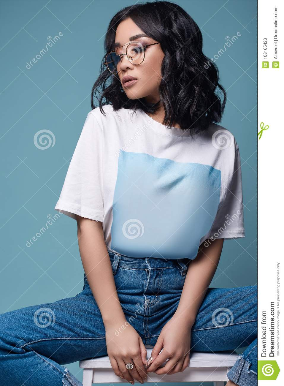 For asian girl t shirts something similar
