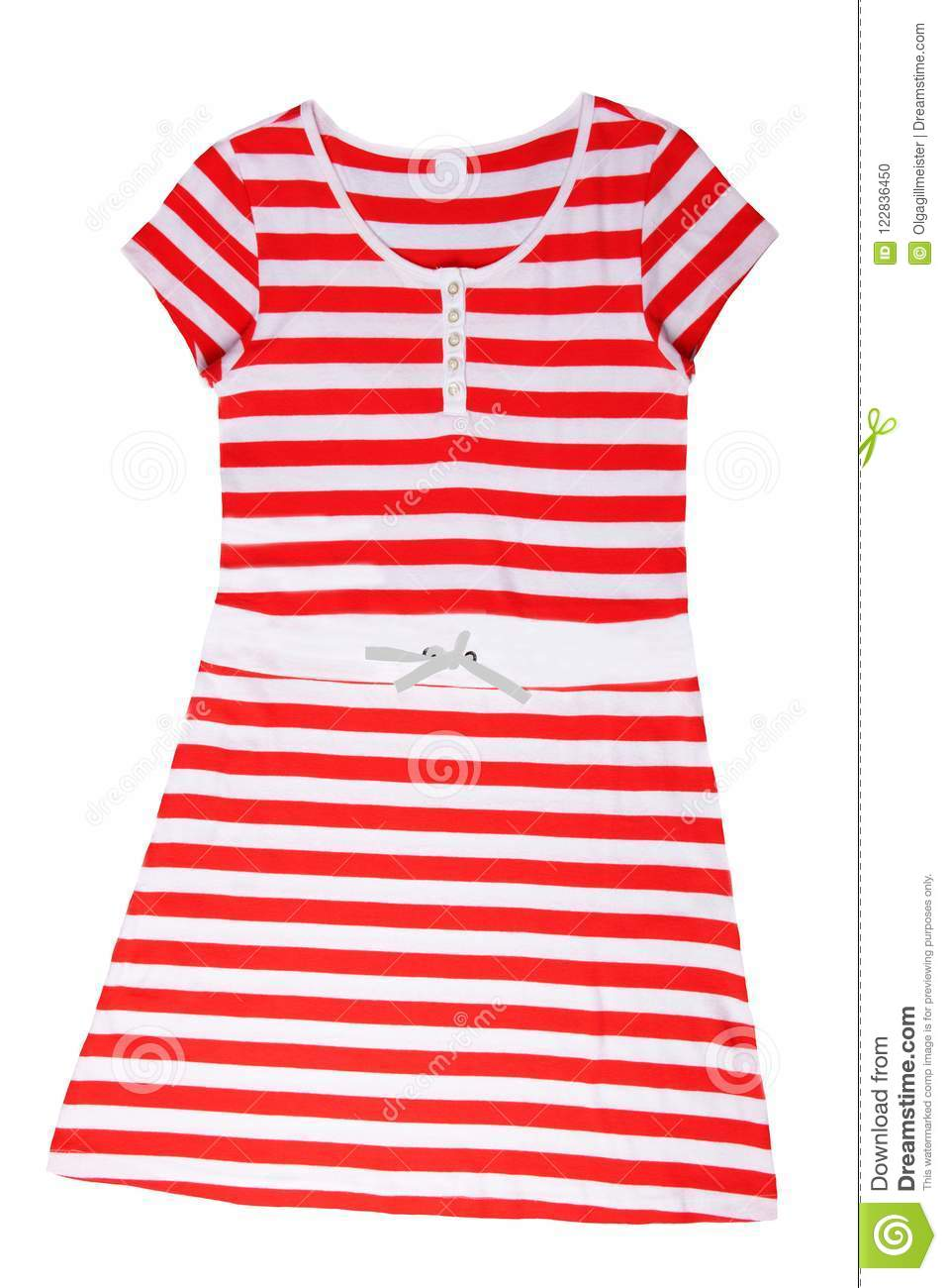 Fashionable summer clothes isolated on a white background. Red w
