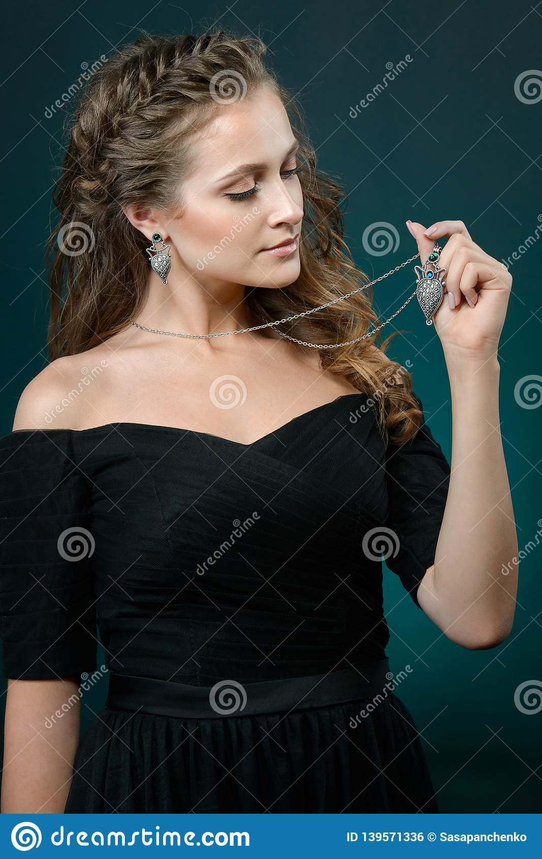 Fashionable woman demonstrated collection luxury accessory and jewelry