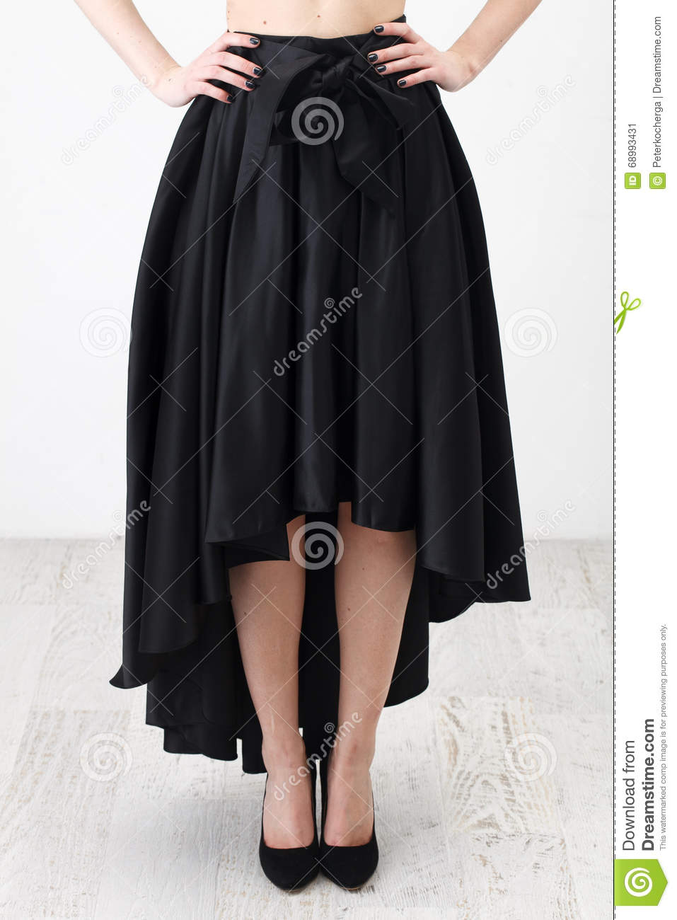 7b8c70ccd8 Fashionista In Black Shirt And Skirt Stock Image - Image of dress ...