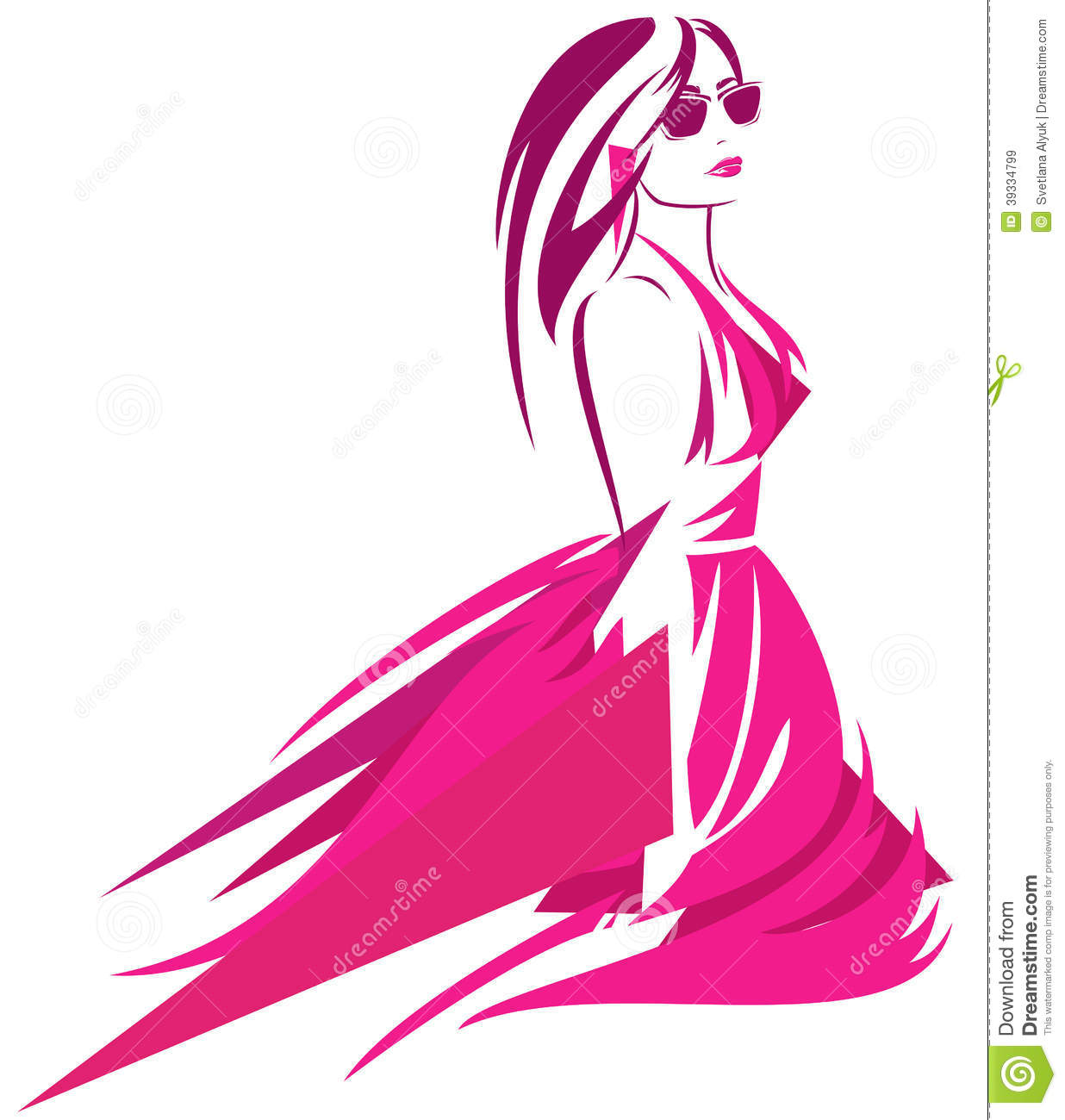 Fashionista stock vector. Illustration of background ...