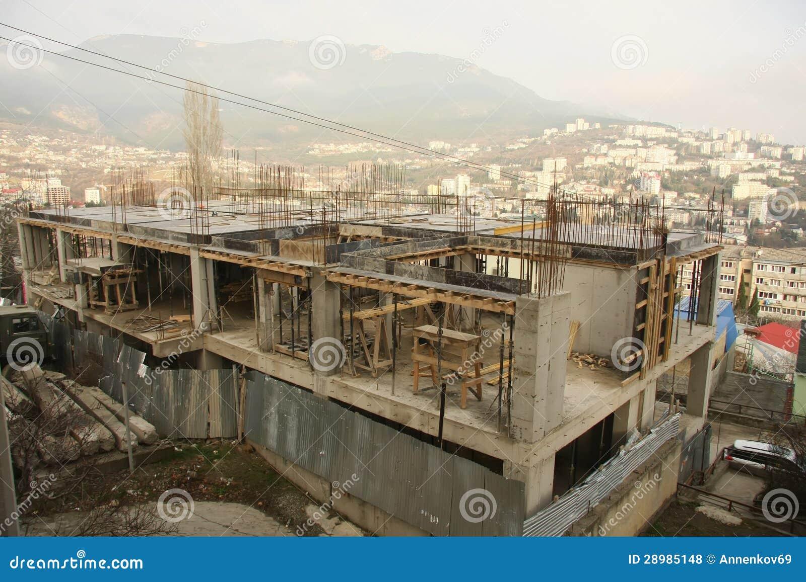 Fasi di costruzione 8 fotografia stock immagine di for Ottenere un prestito di costruzione