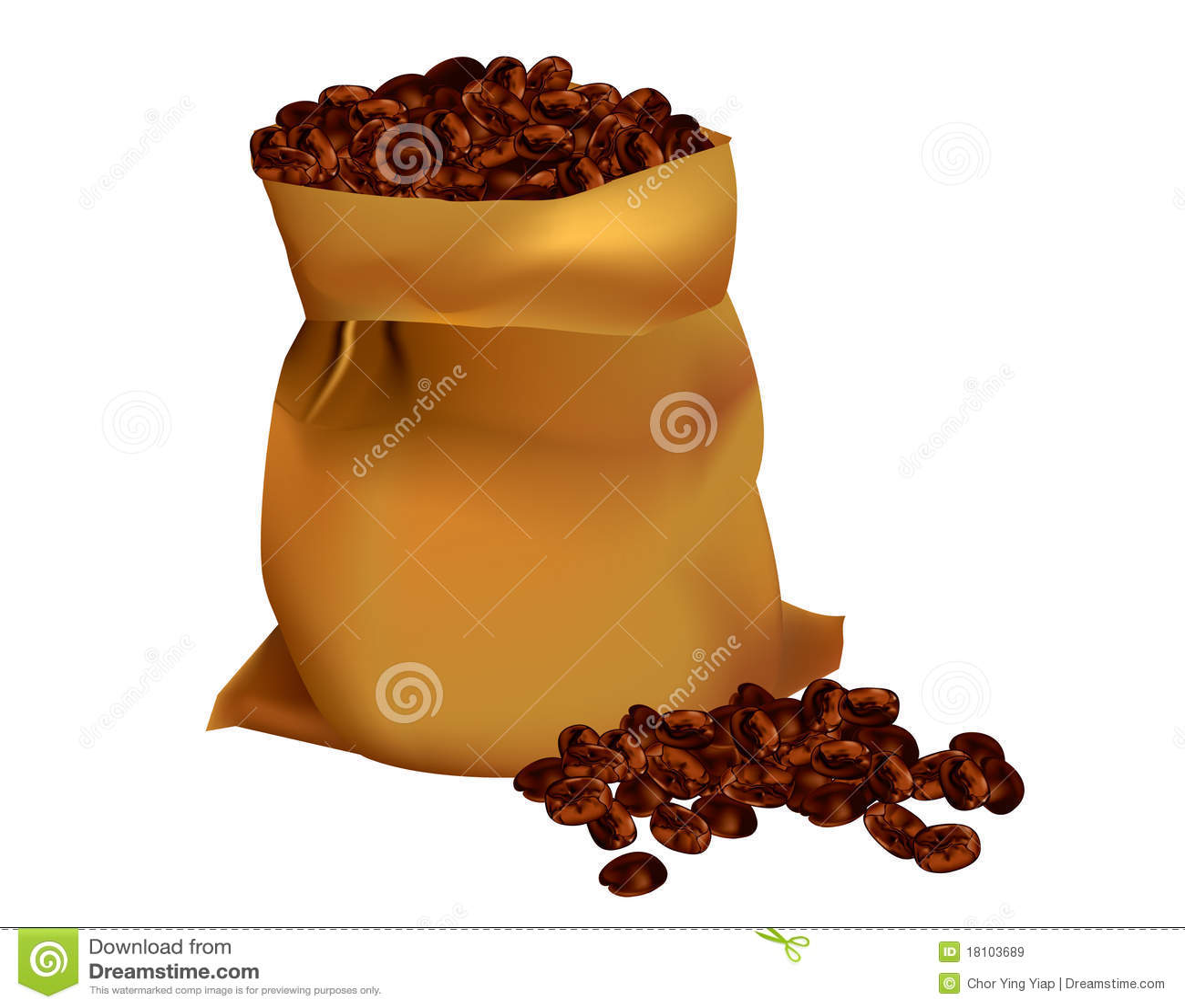 Fasoli kawy worek
