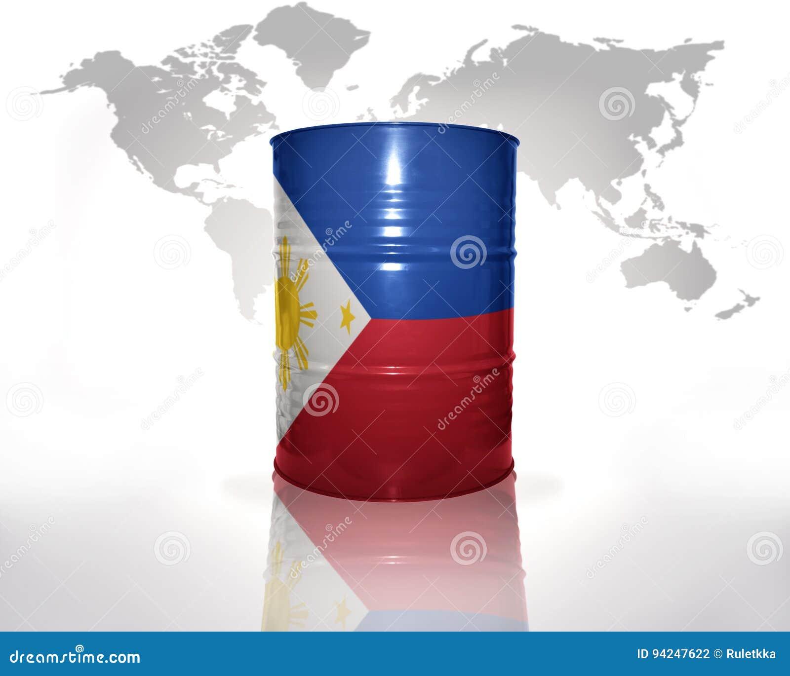 Fass mit Philippinen-Flagge