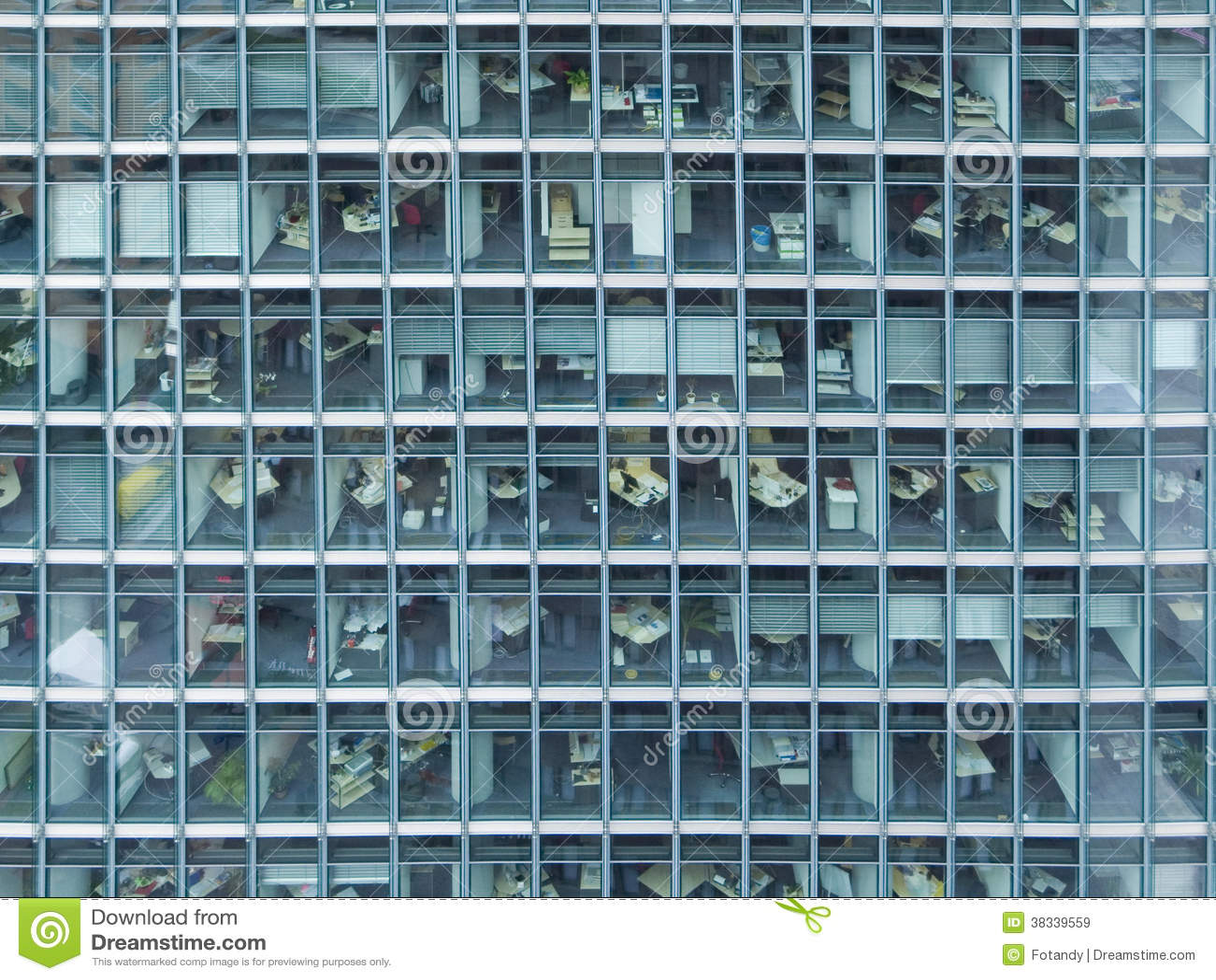 Fassade frontal  Fassade Von Büros Lizenzfreie Stockbilder - Bild: 38339559