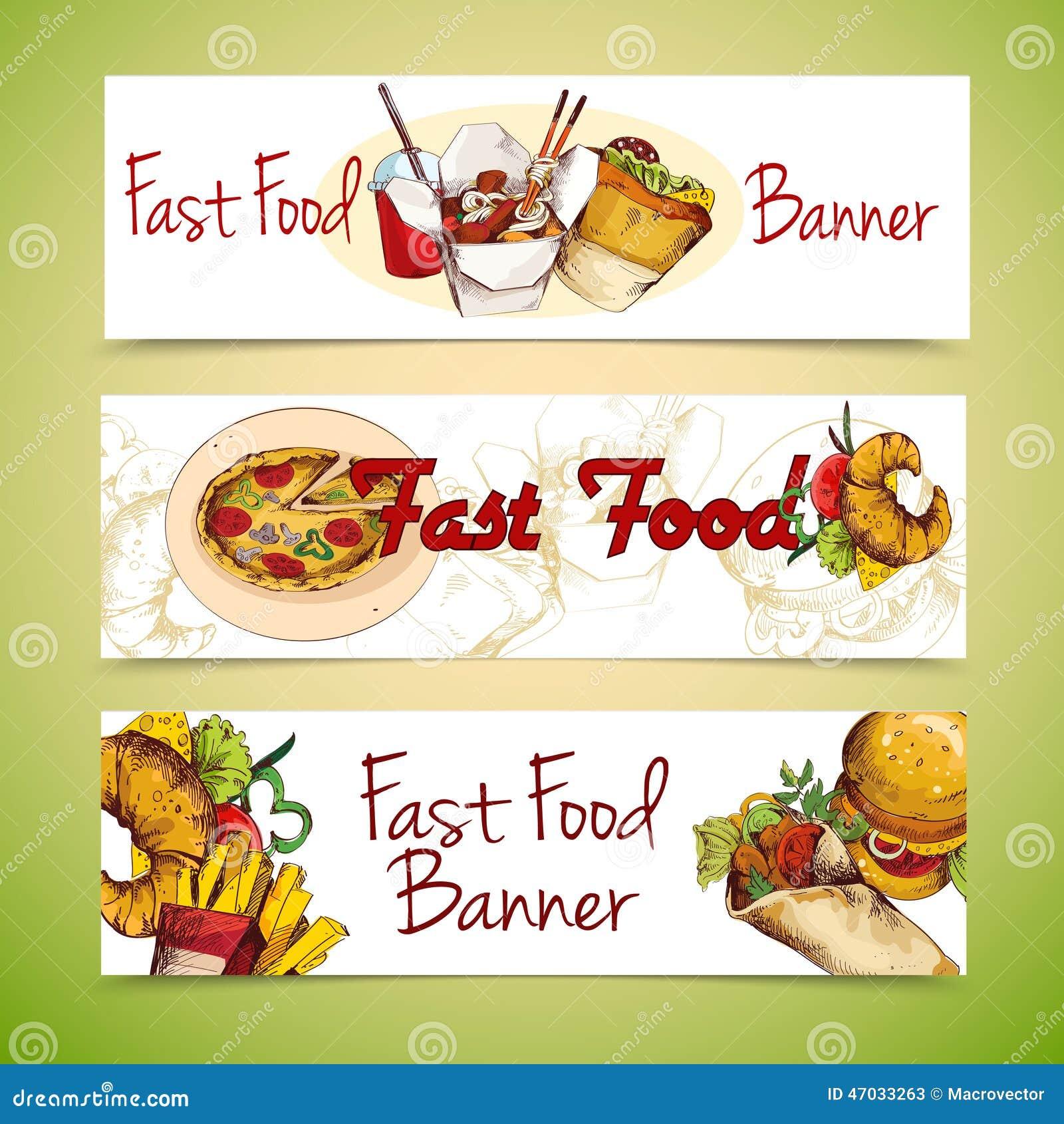 Fastów food sztandary