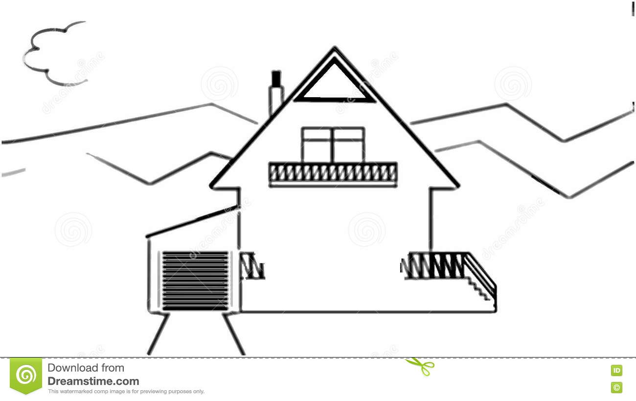 Fast Animated Pencil Sketch Of A Family House In Landscape, Black ... for Animated House Black And White  584dqh