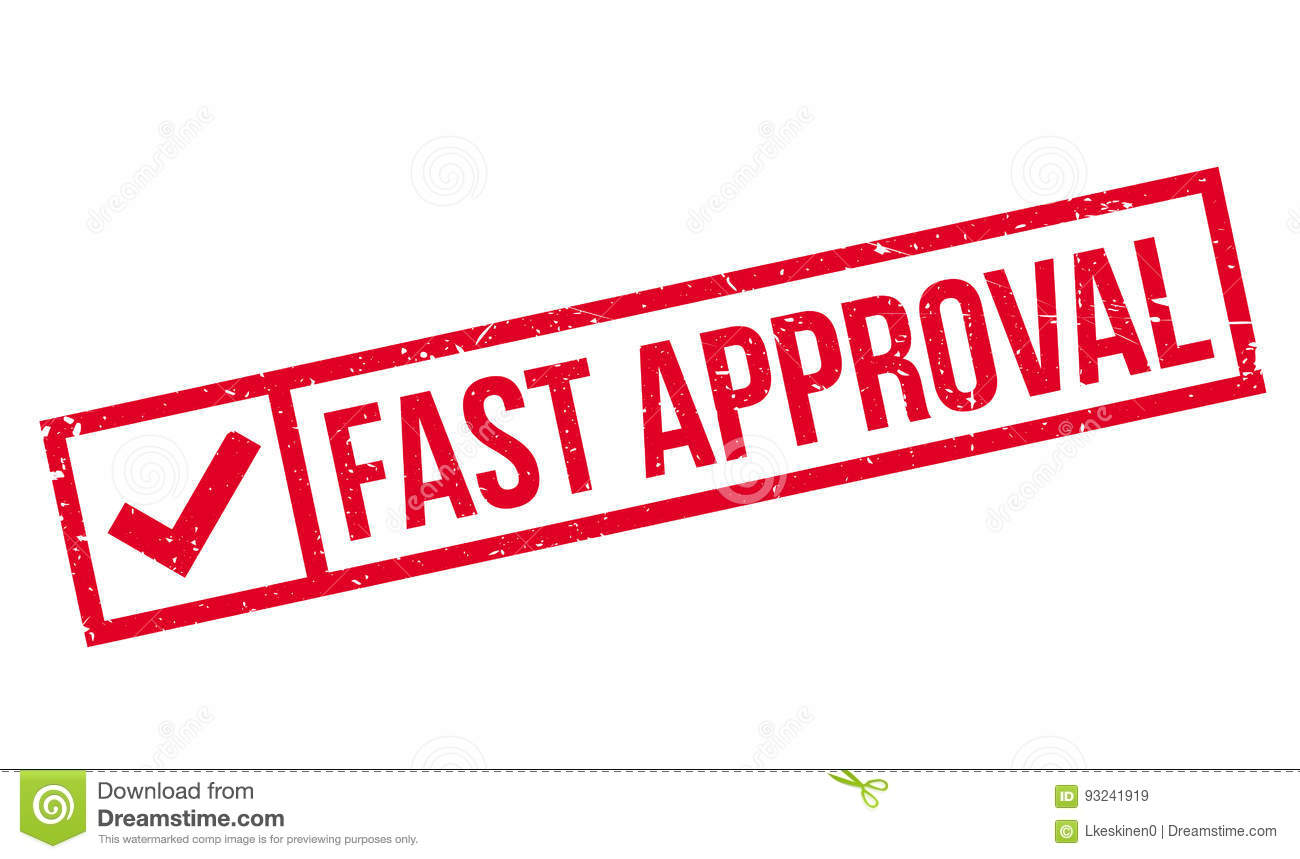 Fast Approval Rubber Stamp