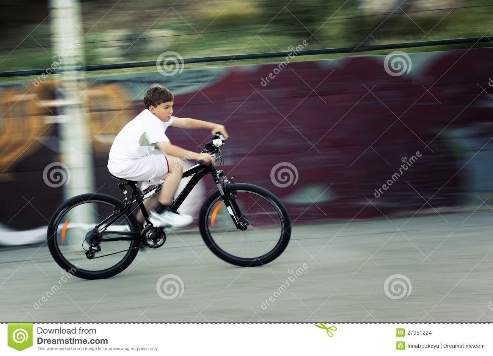 Fast bike ride stock photo  Image of exercise, moving - 27951224