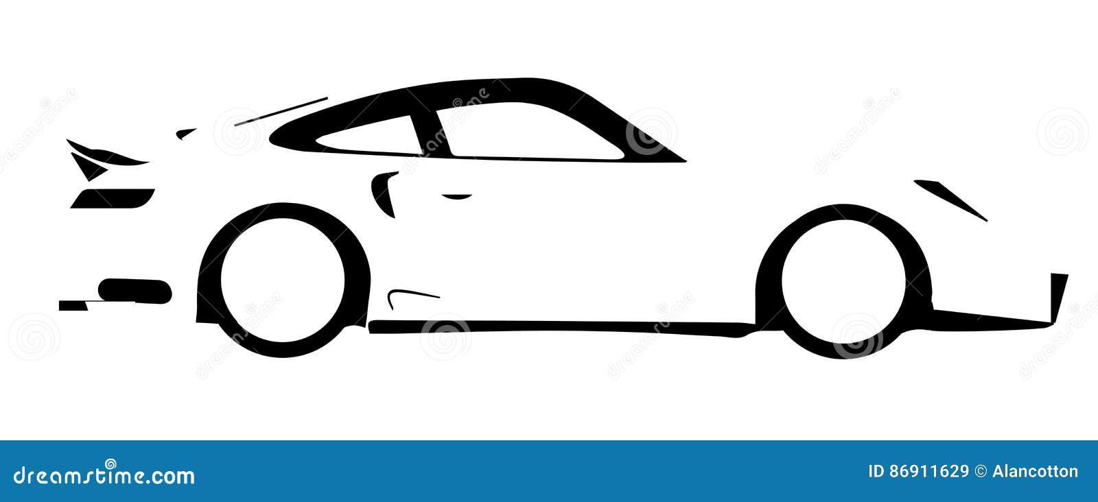 Fast car outline logo 10