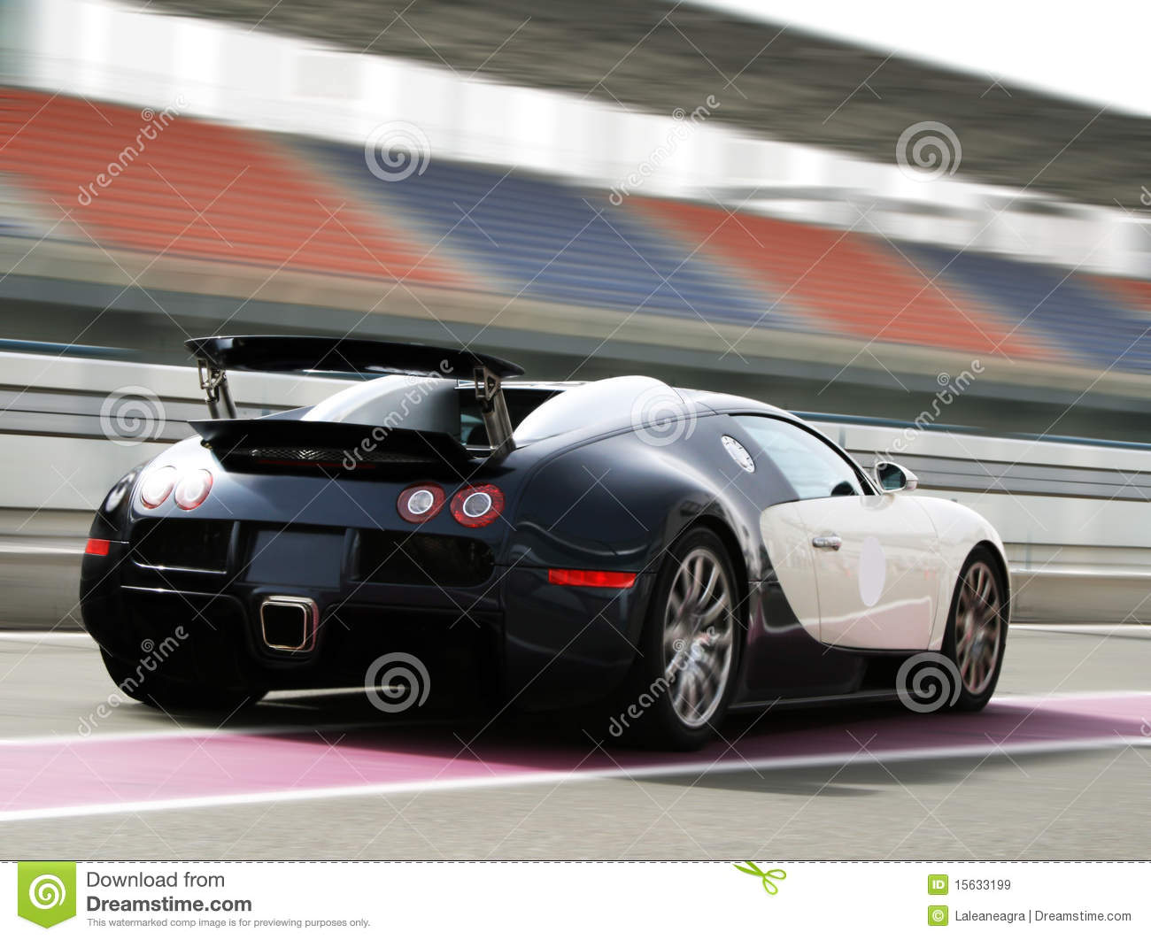 fast car on track royalty free stock images