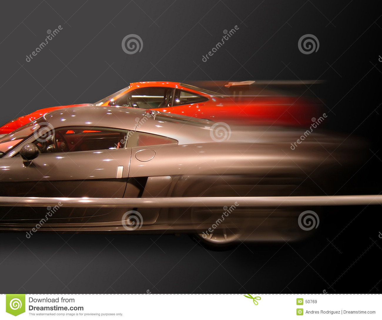 Fast Cars Stock Image. Image Of Motor, Fast, Moving, Grey