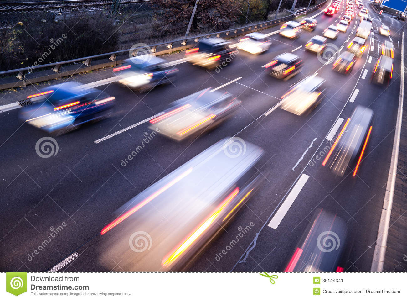 Fast Cars On Highway Stock Image Image 36144341