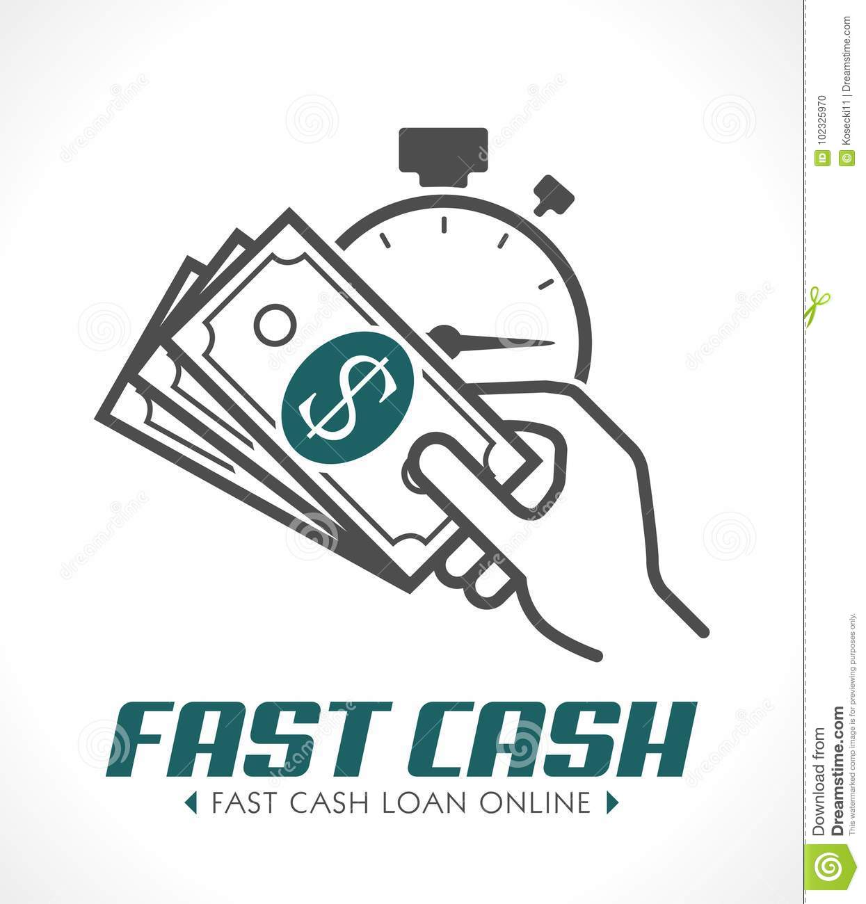 Quick Loan Concept Stock Vector