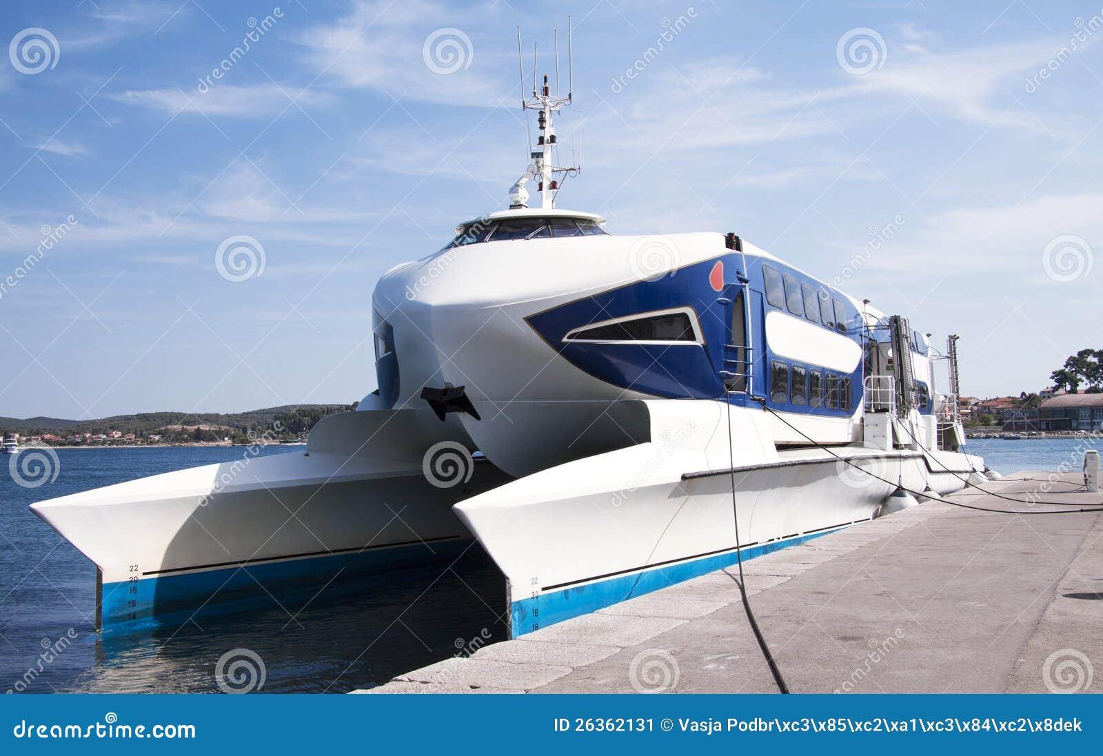 Fast Catamaran Boat Stock Image - Image: 26362131