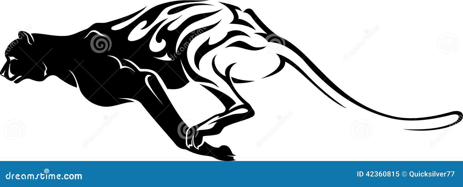 Fast Cheetah Tattoo Stock Illustration Image 42360815