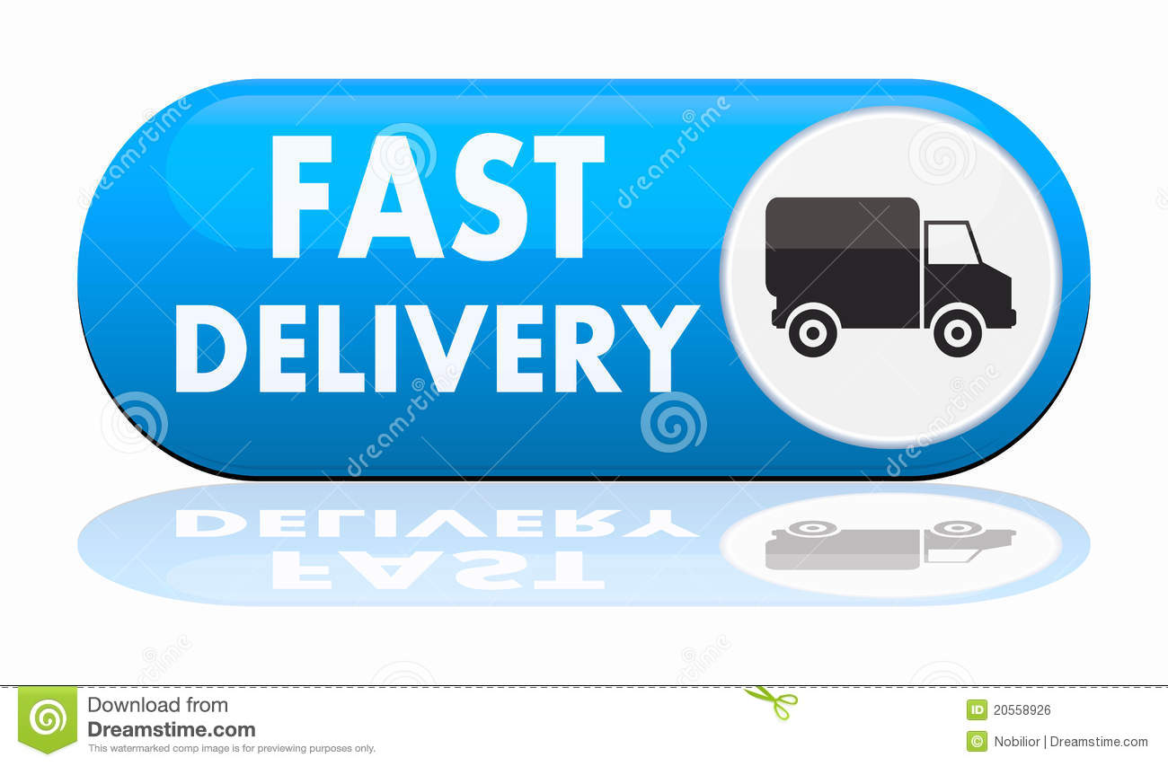 Fast Delivery Banner Royalty Free Stock Image
