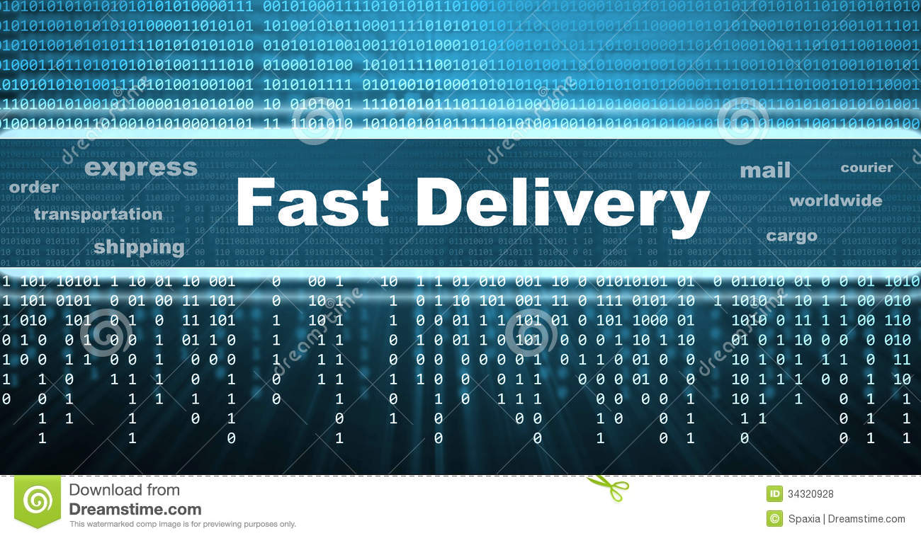 Fast Delivery Banner Royalty Free Stock Photos
