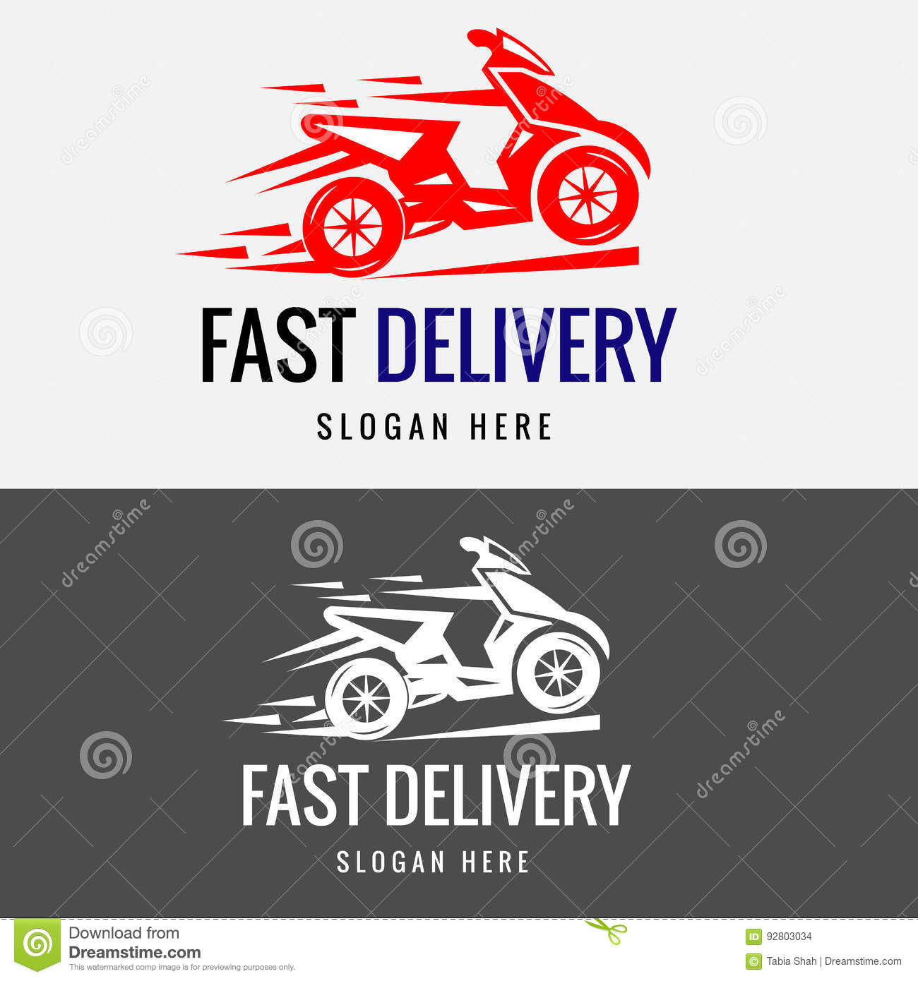 Funny Pizza Delivery Boy Riding Motor Bike Vector ...