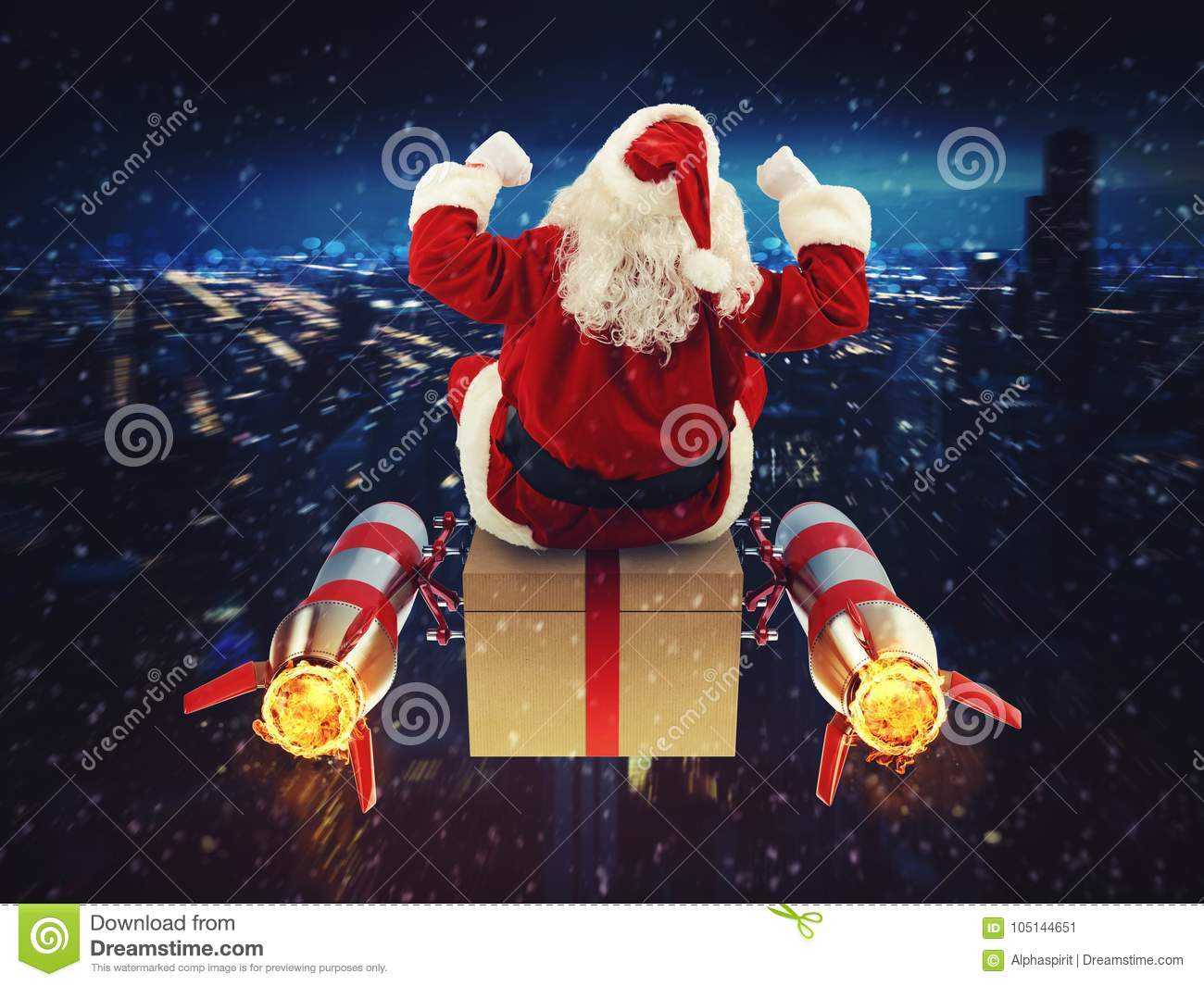 Fast Delivery Of Christmas Gifts Stock Image - Image of fast ...