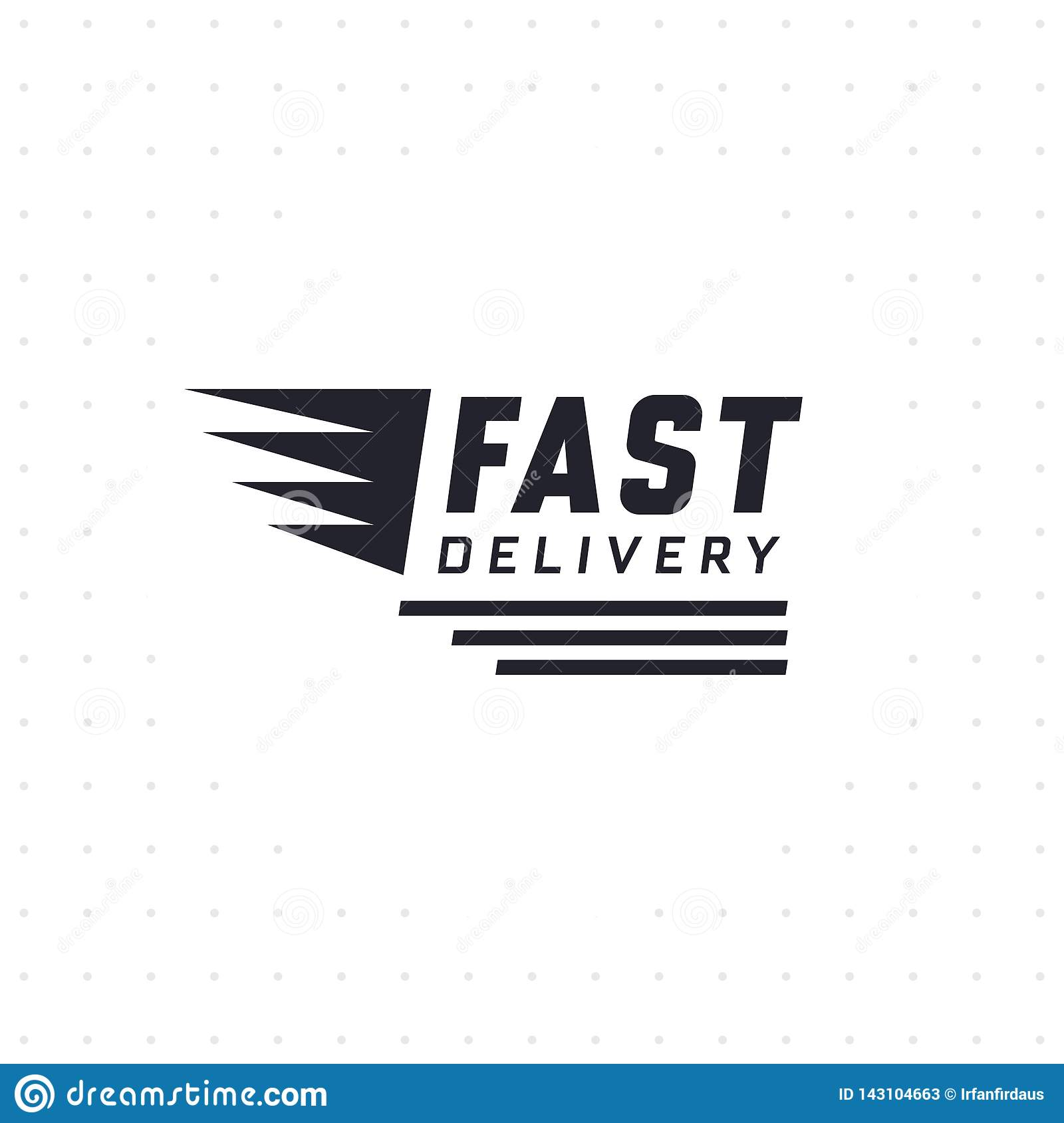 Fast delivery design stock vector  Illustration of delivery