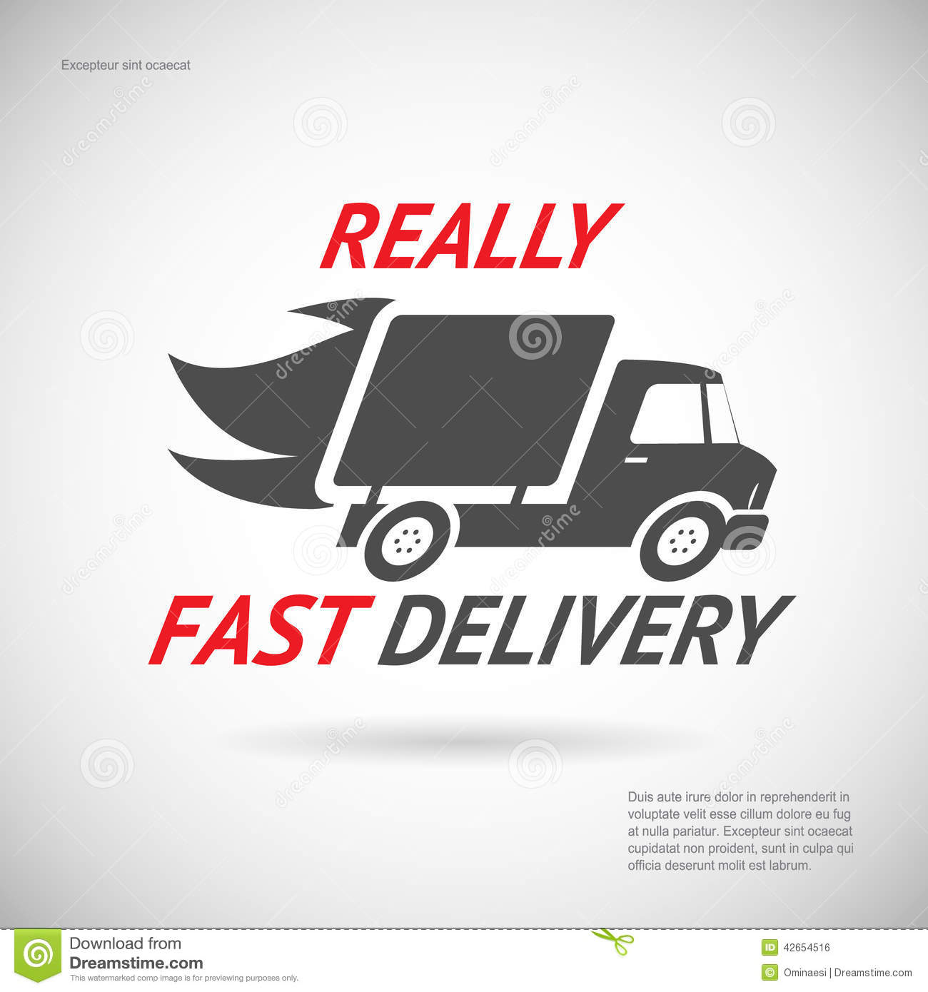 Shipping Delivery: Fast Delivery Symbol Shipping Truck Silhouette Stock
