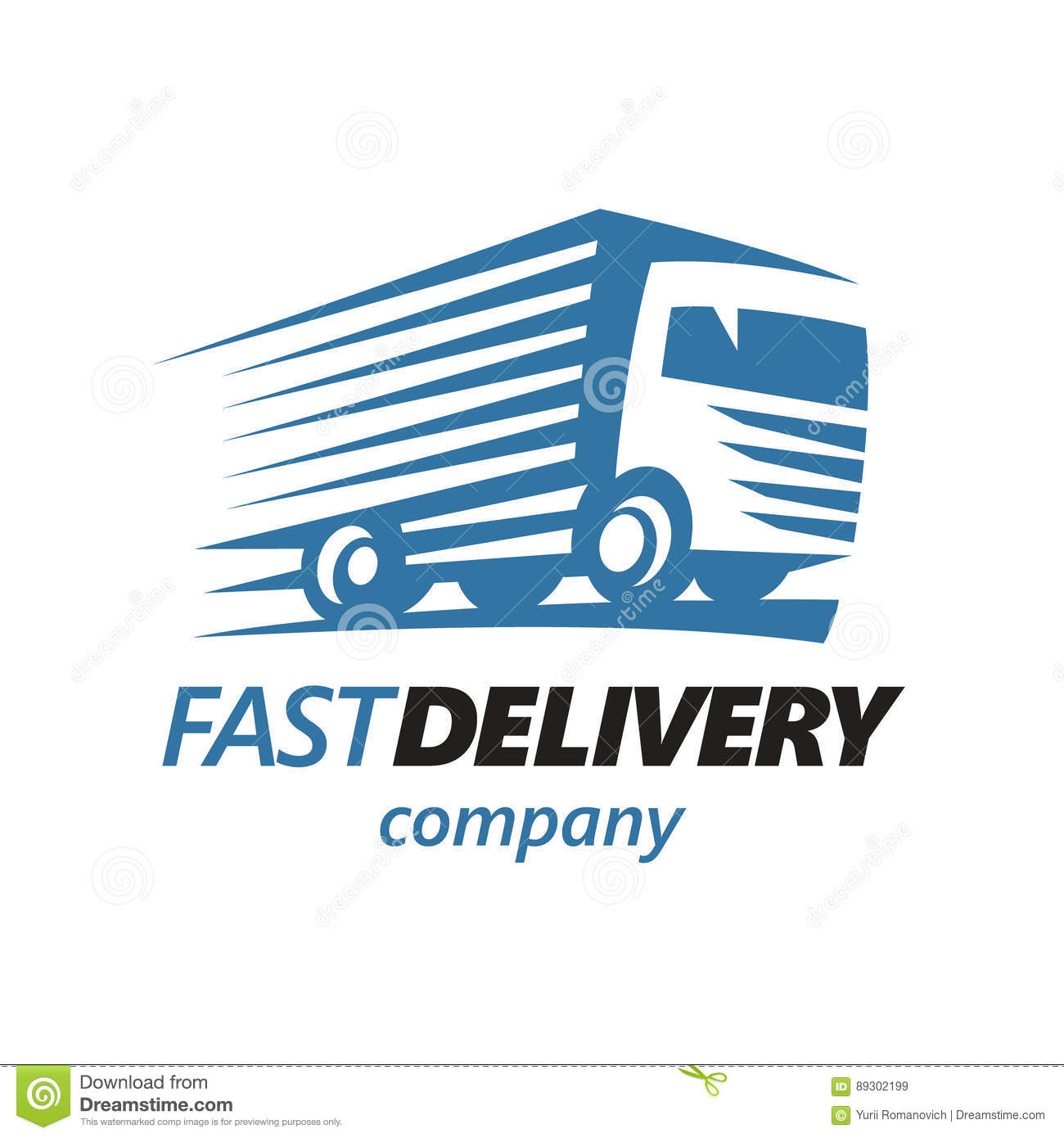 Fast Delivery Truck Logo Template. Vector Stock Vector ...