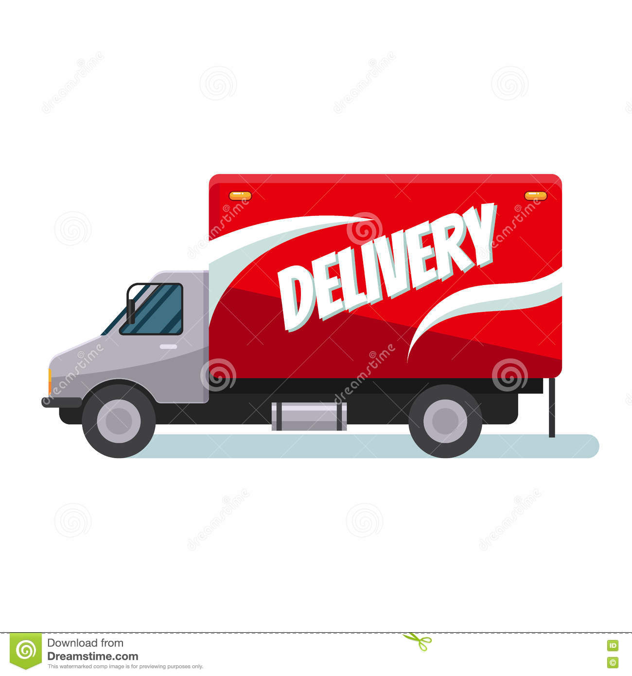 Fast delivery truck stock vector  Illustration of package