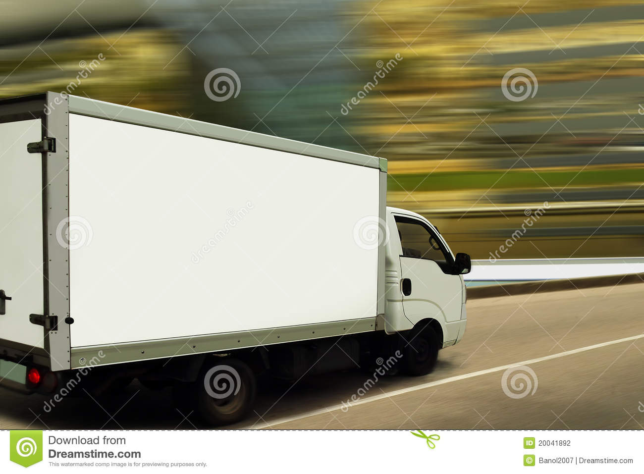 Fast Delivery Van On Blurred Background Stock Photography