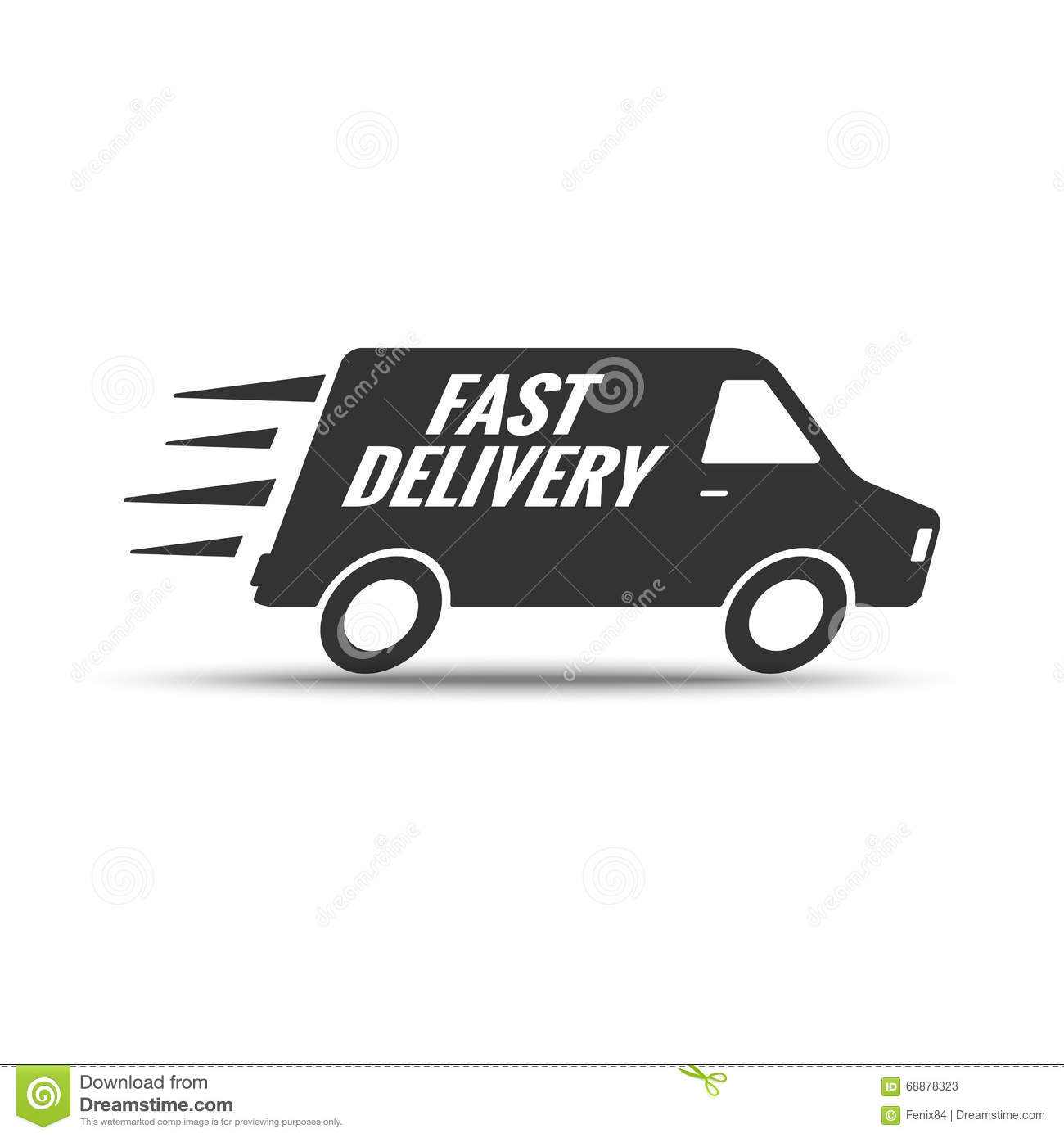 Shipping Delivery: Delivery And Shipping Logo Vector Cartoon Vector