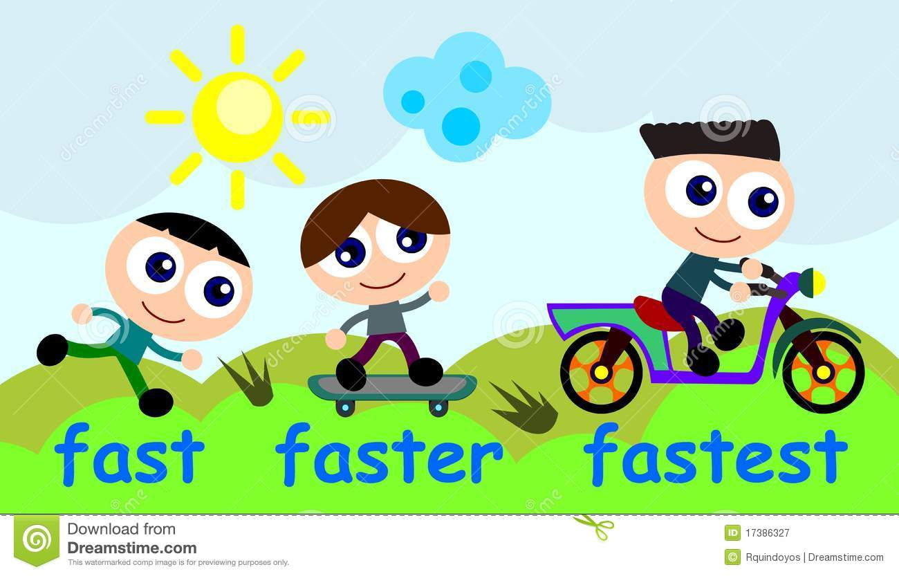 Stock Photo: Fast faster fastest. Image: