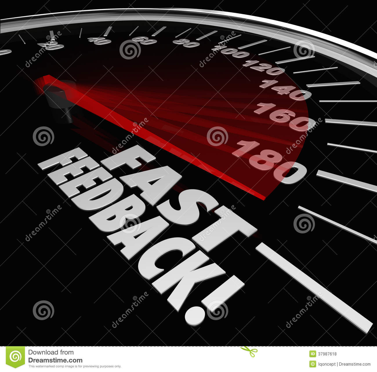 Fast Feedback Words Speedometer Instant Answer Reply ...
