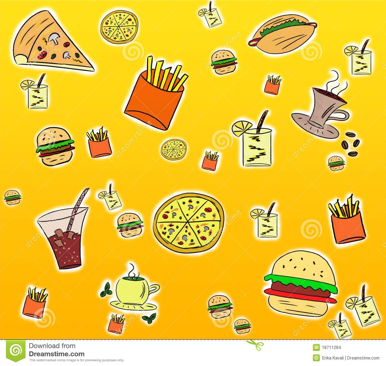 Food Background fast food background stock images - image: 18711284