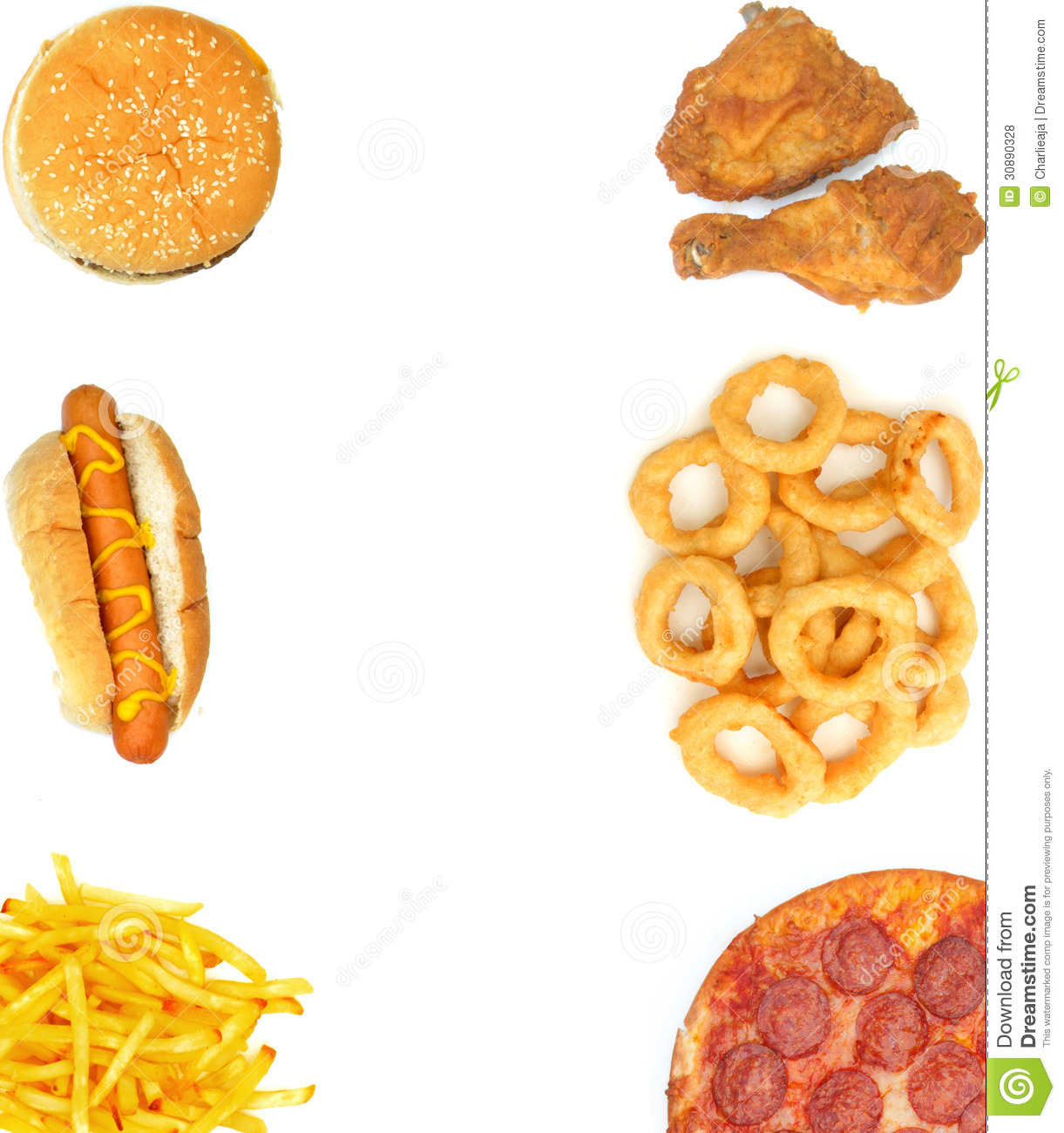 Fast Food Background Royalty Free Stock Photos - Image: 30890328