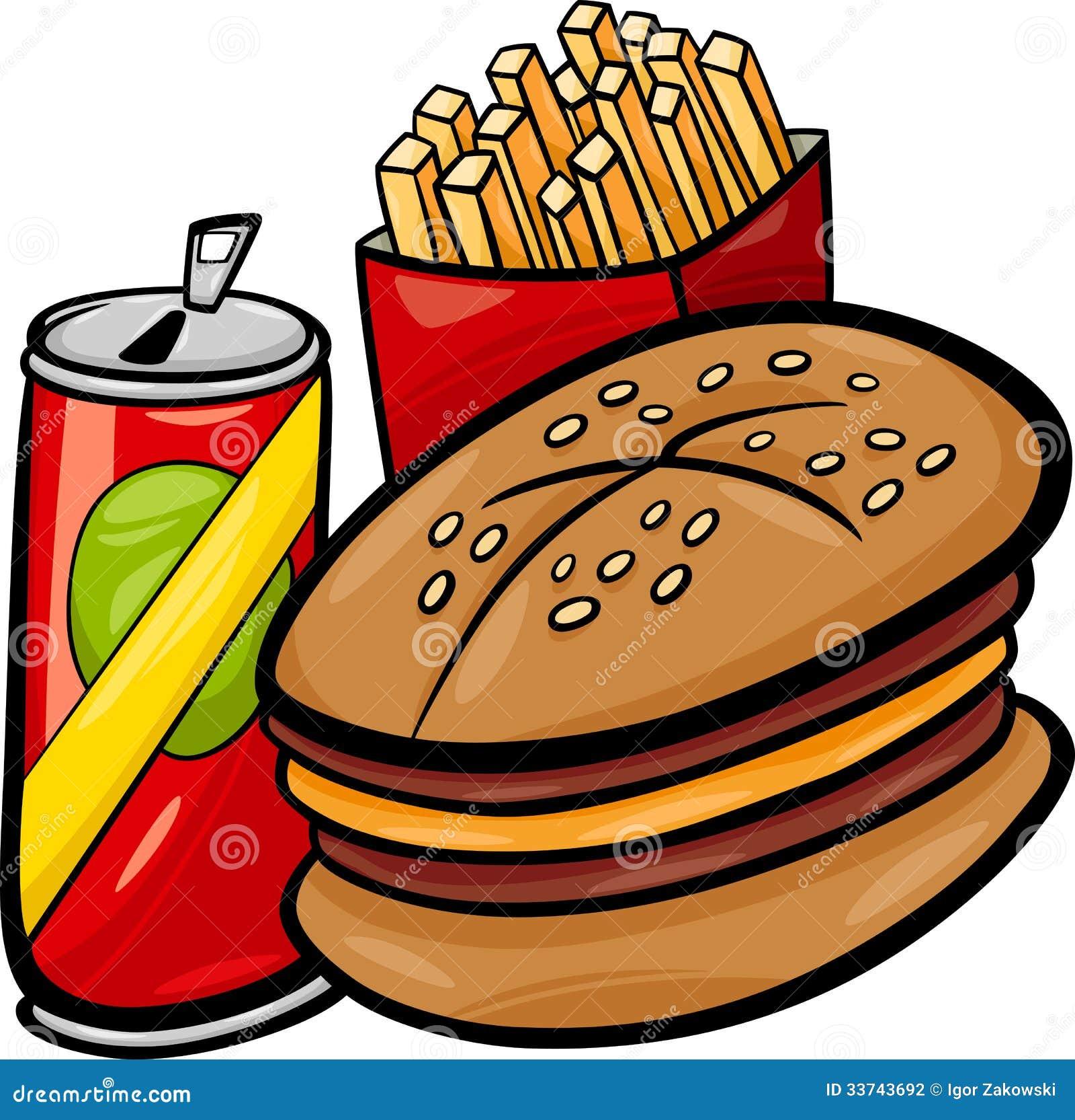 Fast Food Cartoon Clip Art Stock Photography Image 33743692