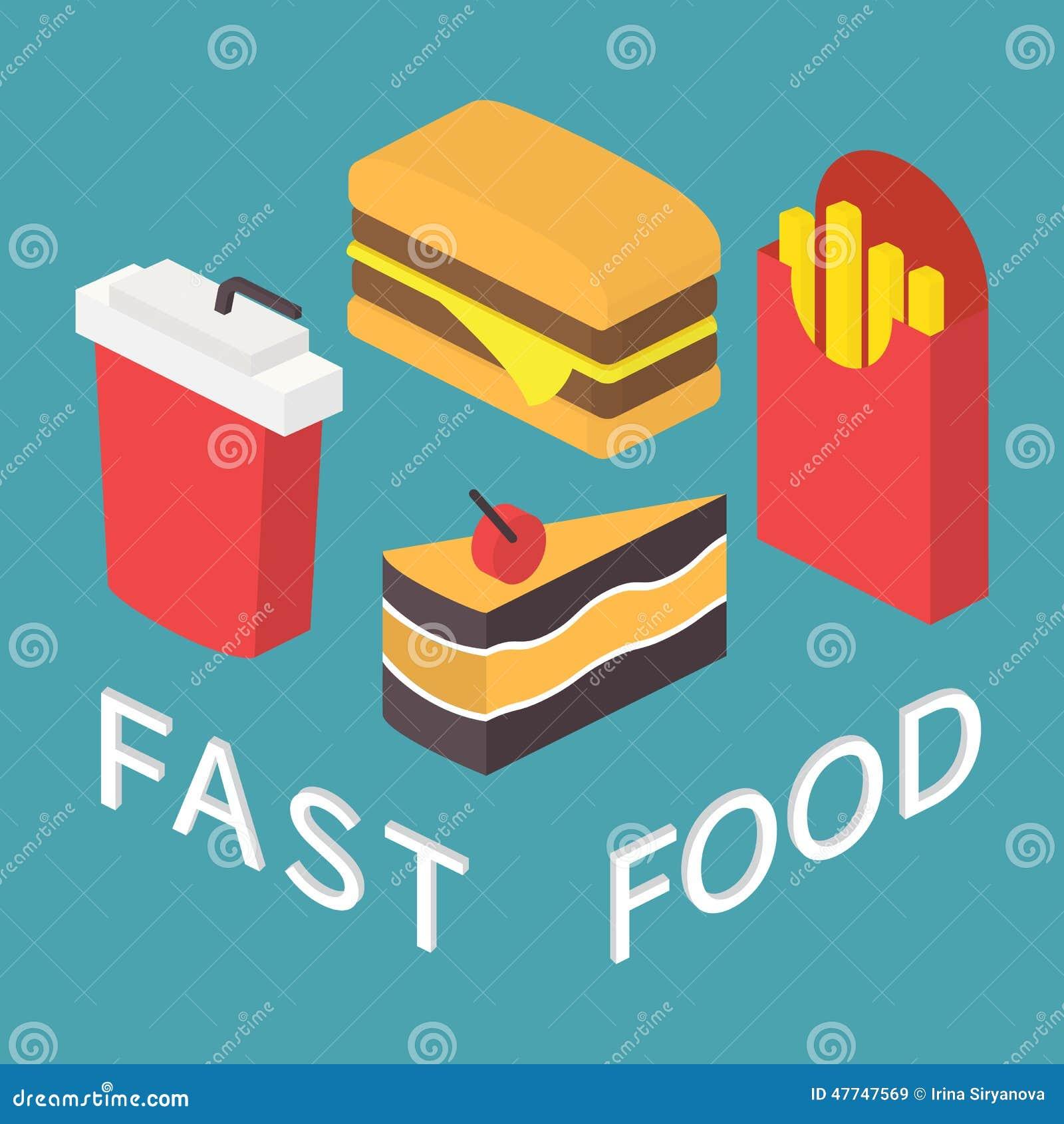 Fast Food, 3d Isometri...