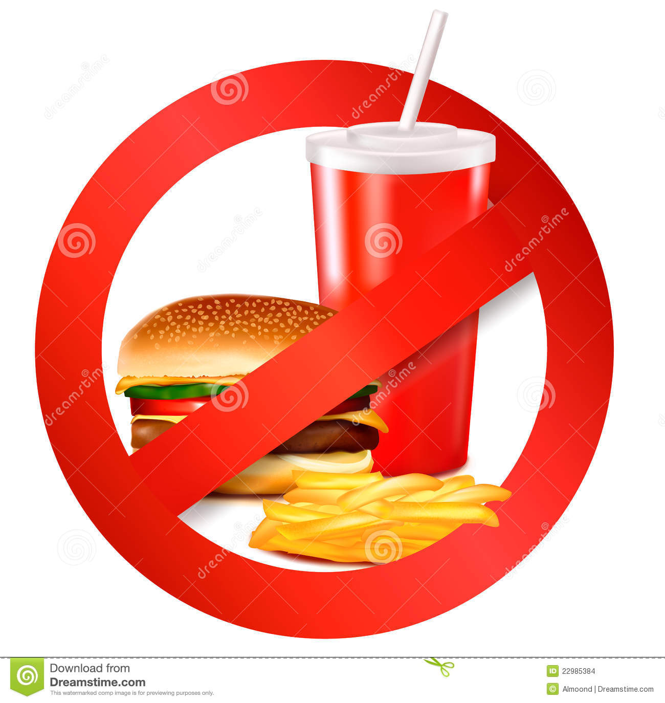 Fast Food Danger Label. Vector Stock Images - Image: 22985384