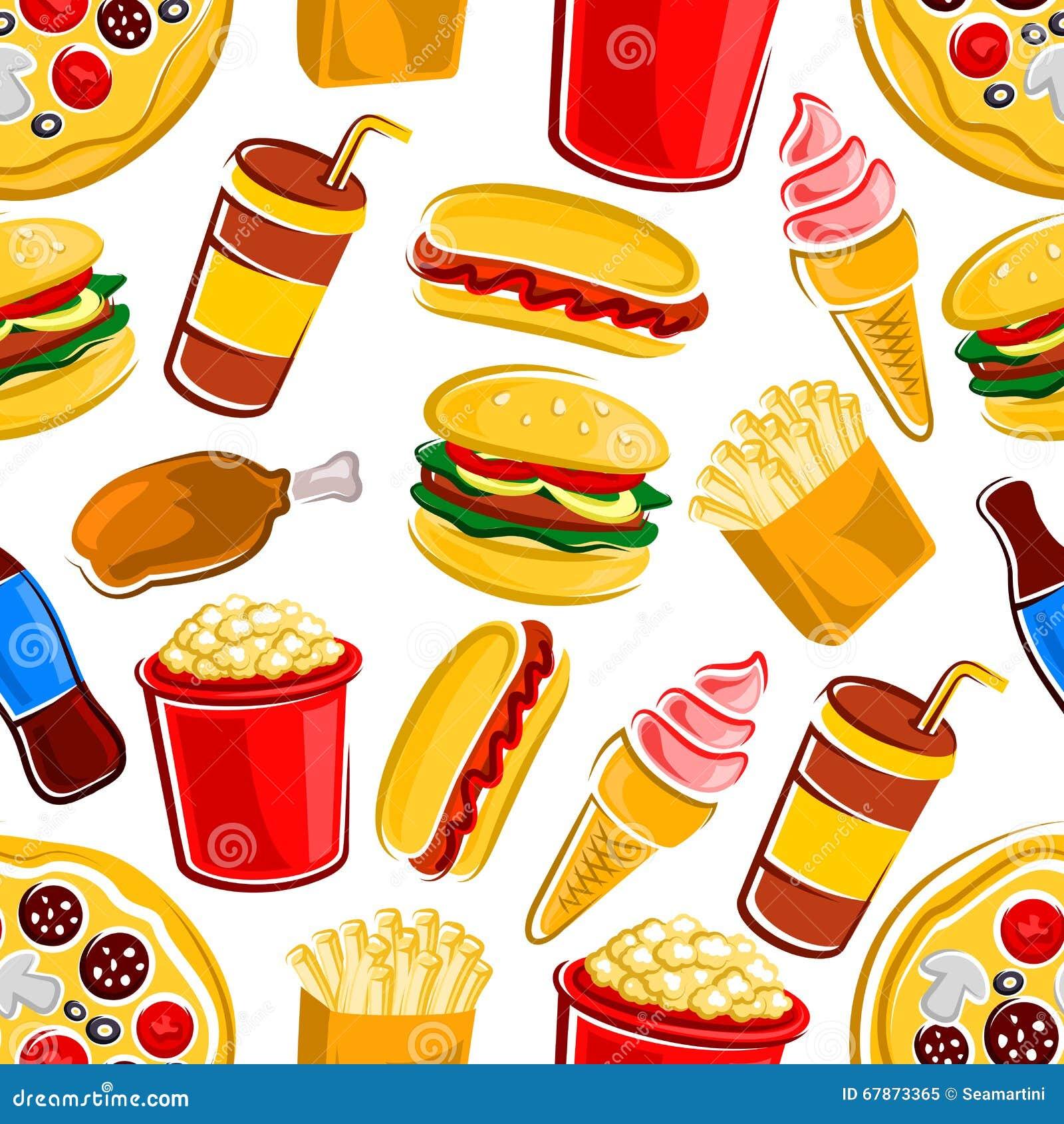 fast food wallpaper pattern