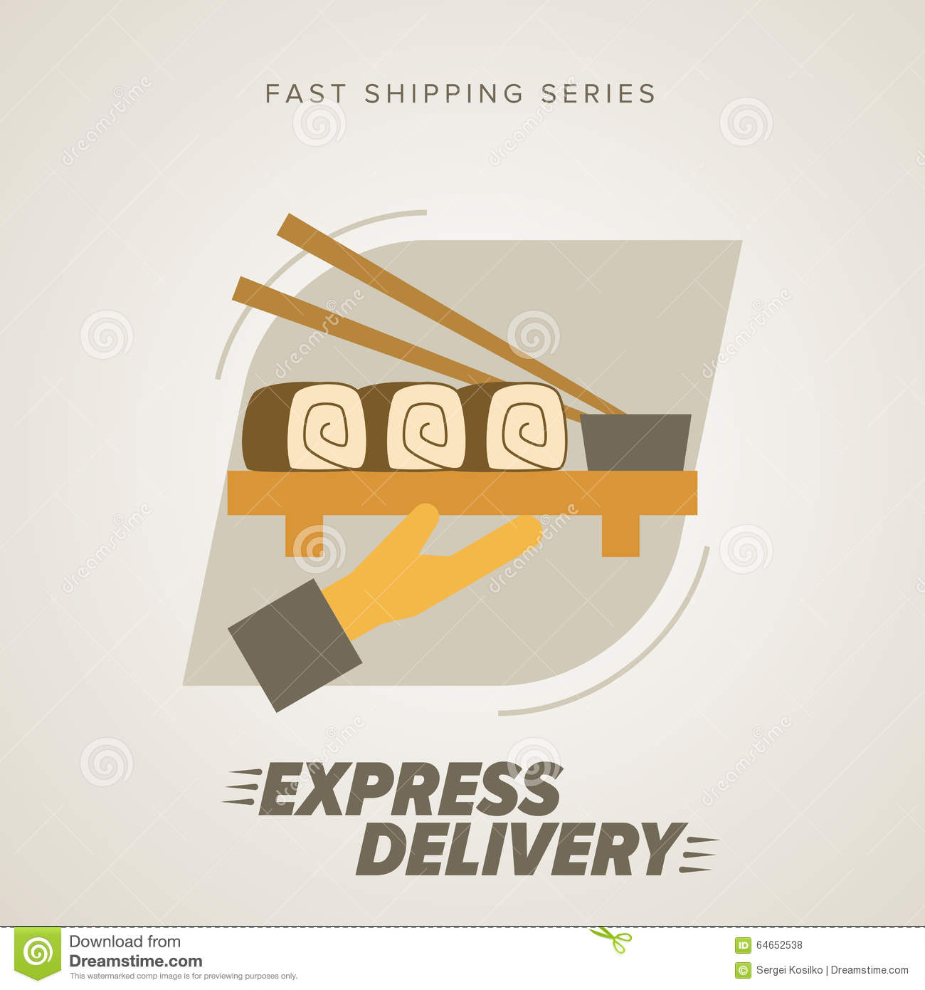 Shipping Delivery: Fast Food Express Delivery Symbols. Stock Vector