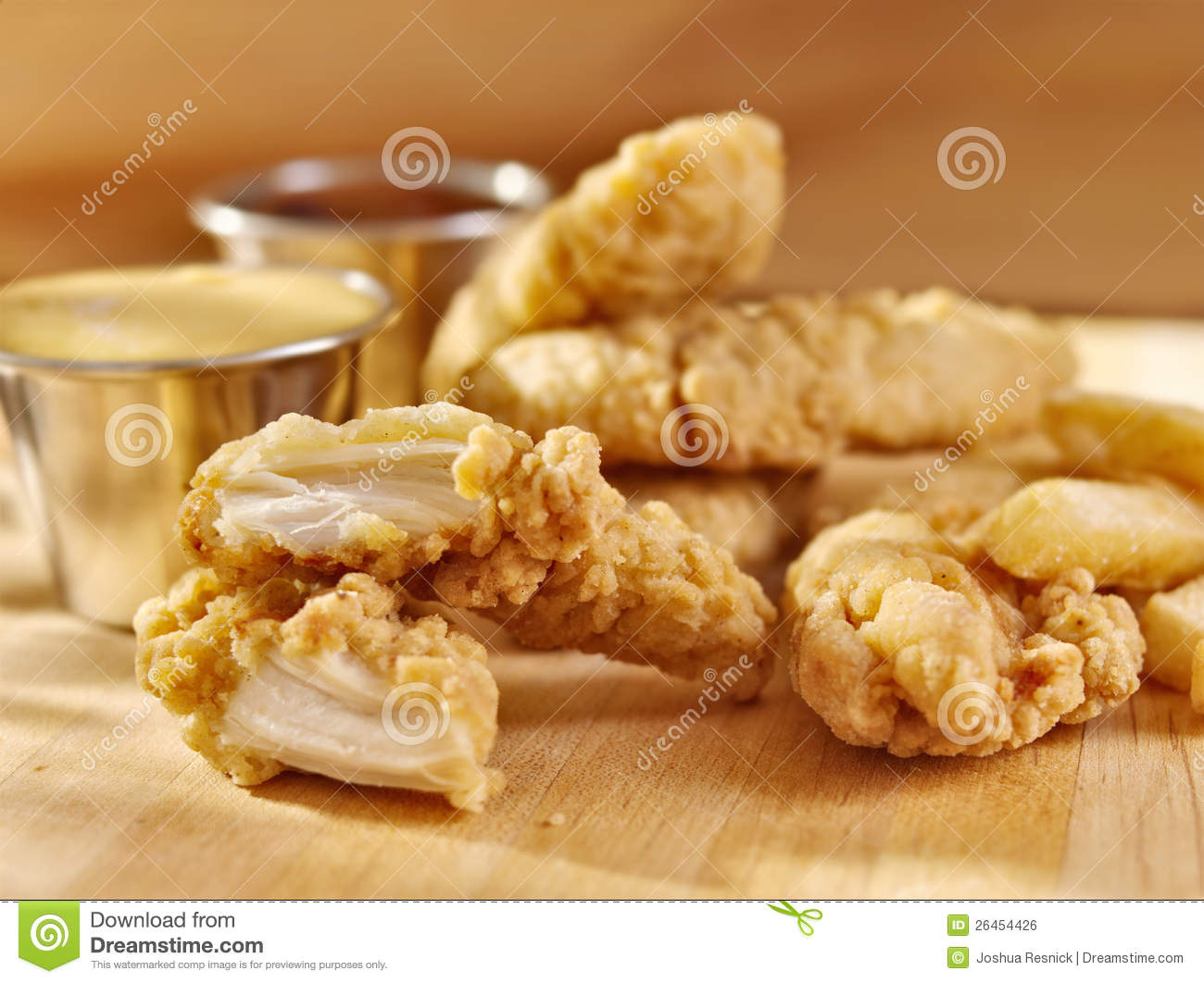 Fast Food Fried Chicken Strips. Royalty Free Stock Image - Image ...
