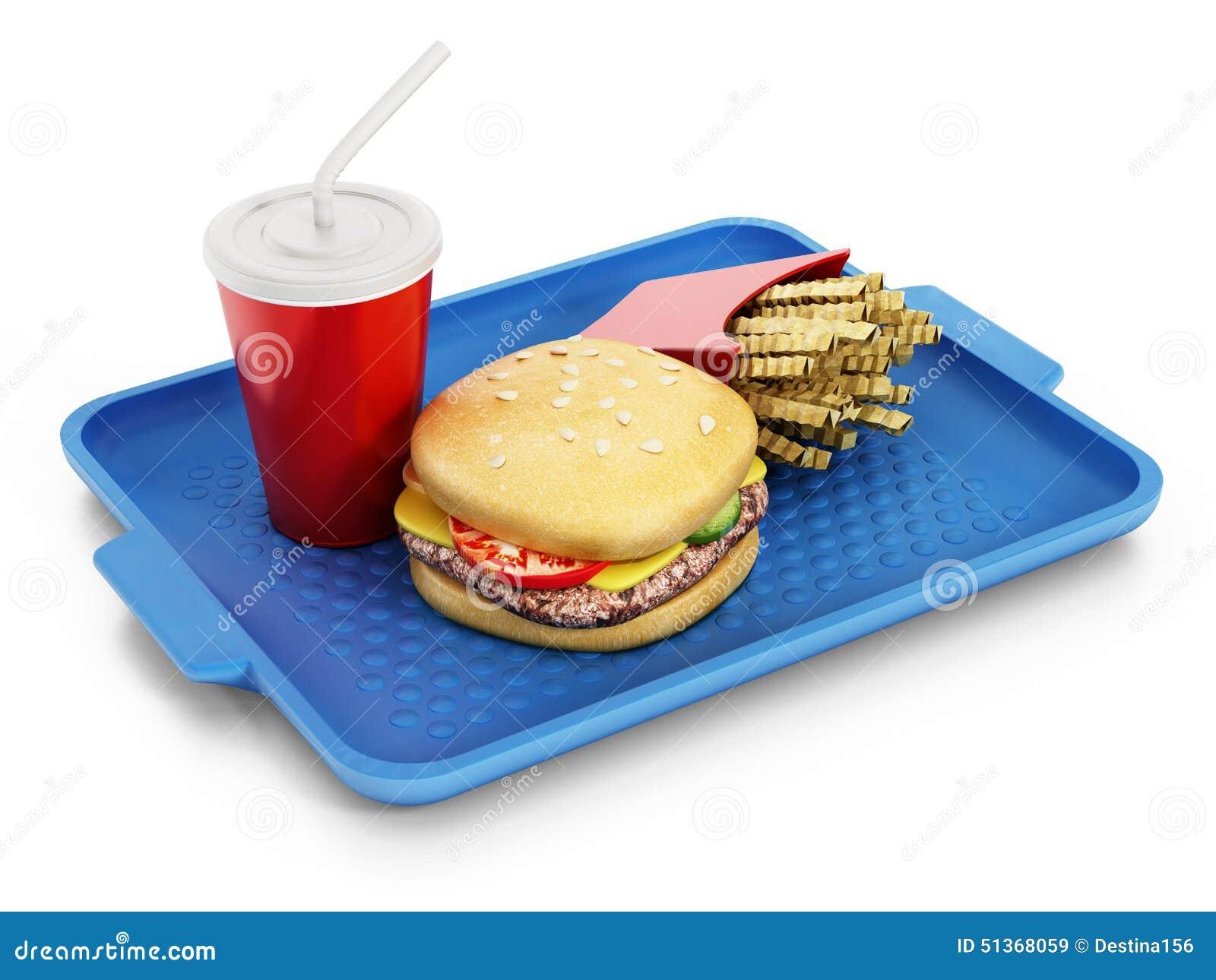 Fast Food Bag Tray