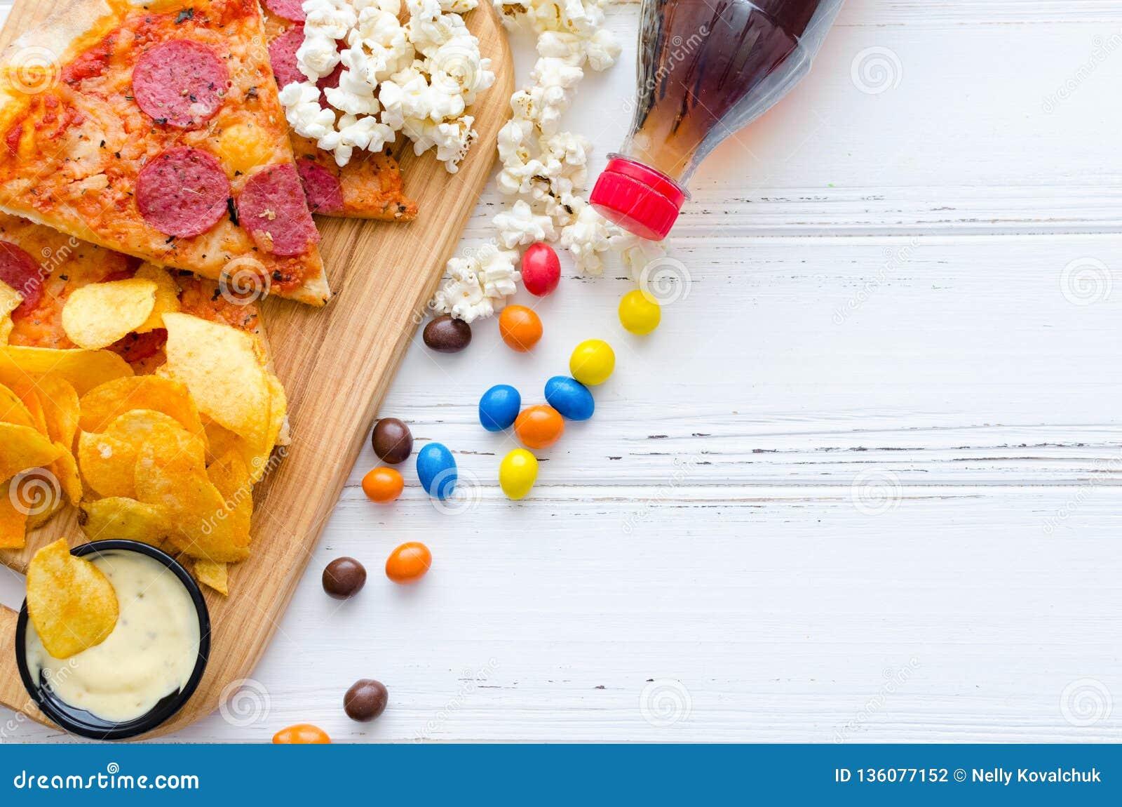 Fast food i niezdrowy łasowania pojęcie