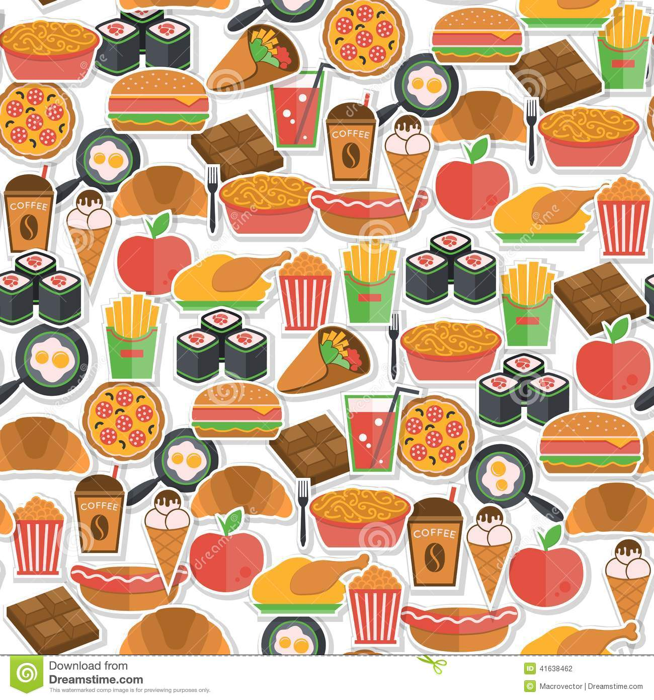 fast food icon seamless stock vector illustration of meal