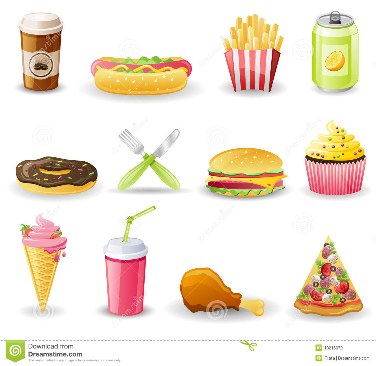 Free Vector Fast Food Icons