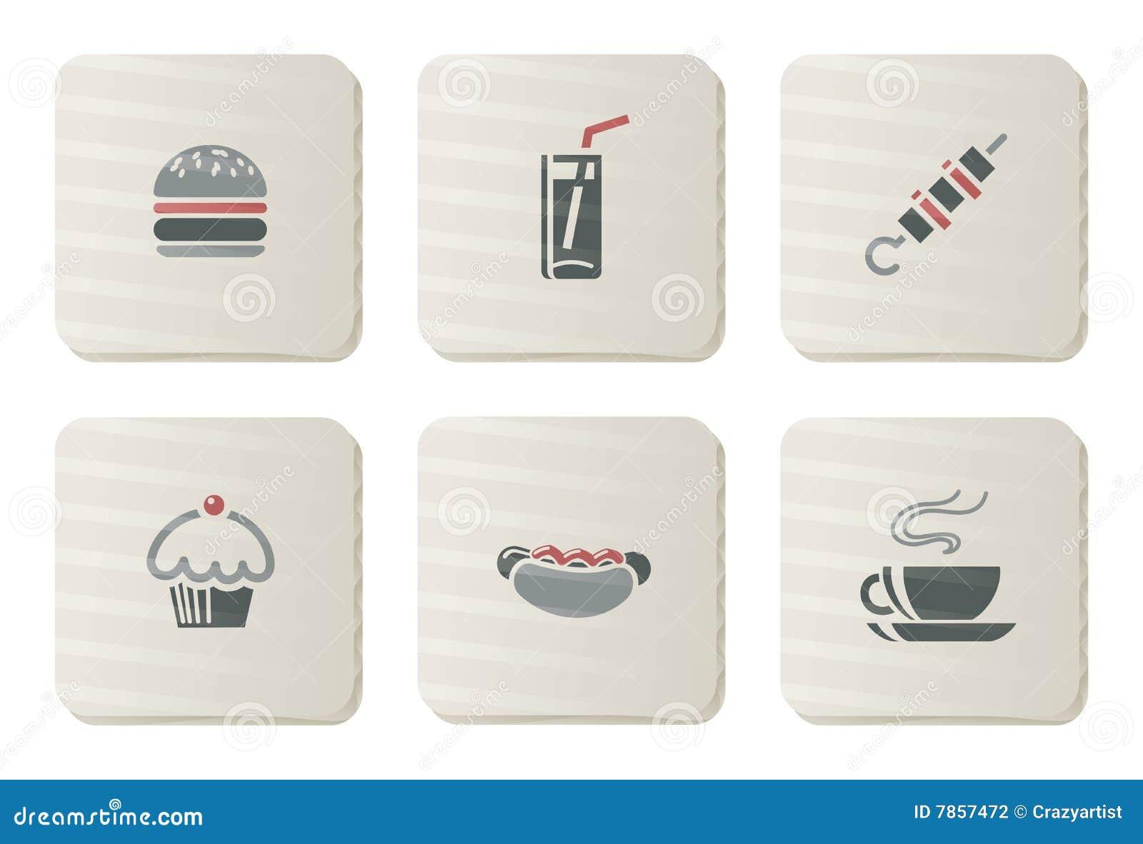 Fast food icons | Cardboard series