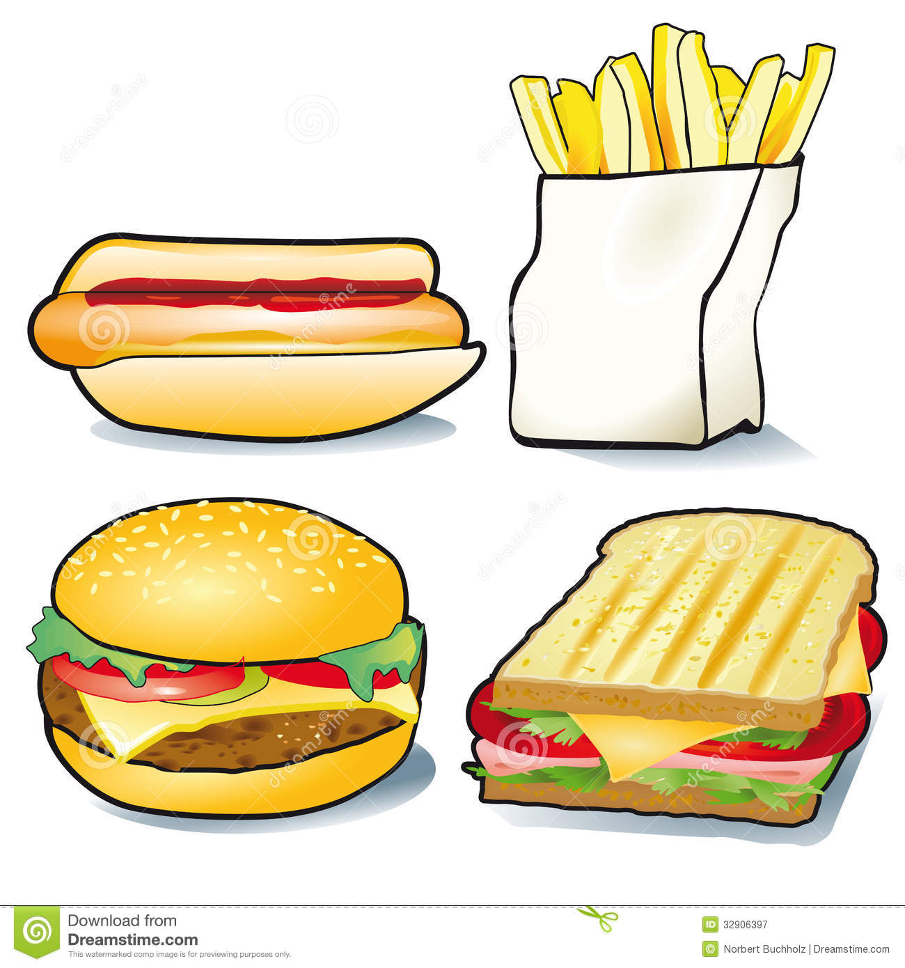 Hotdog And Chips Clipart hot dog  French fries and