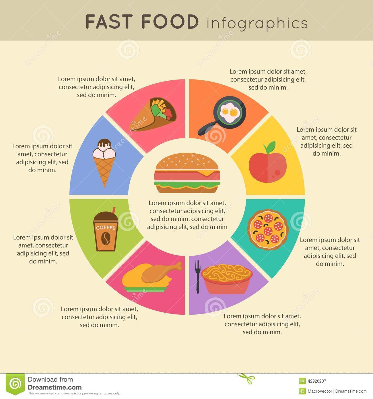 Fast food infographic stock vector illustration of croissant fast food infographic nvjuhfo Image collections